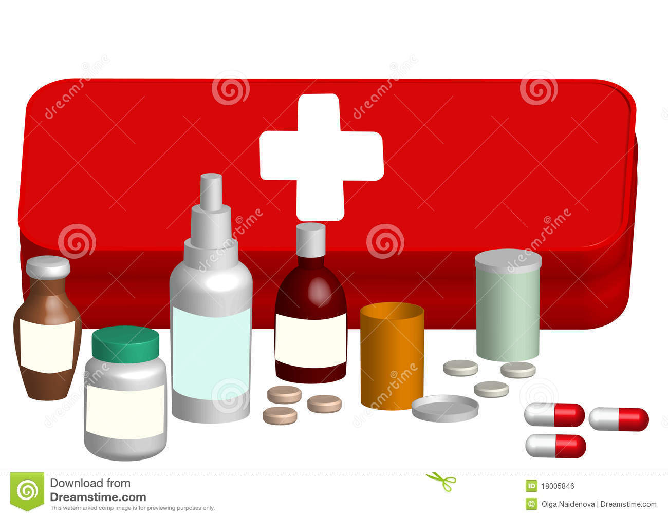 illustration aid kit with medicine tablet royalty free Bed Clip Art Weather Clip Art