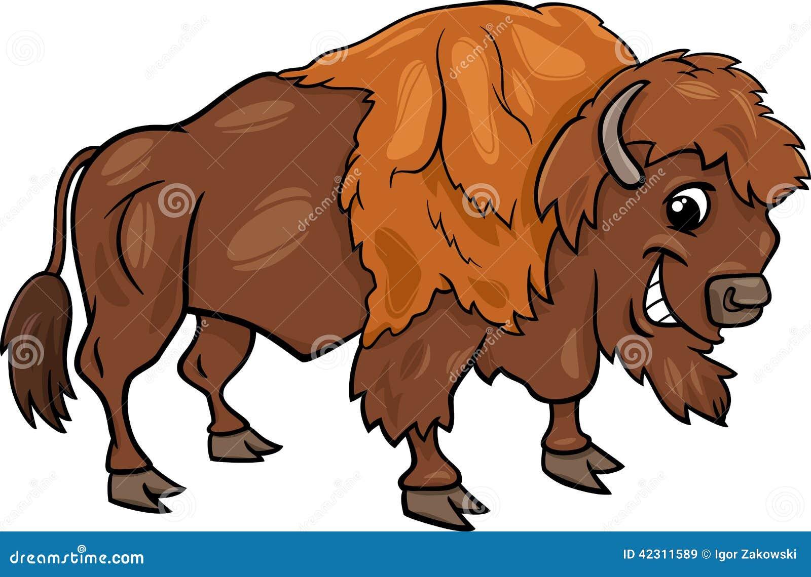 Illustration américaine de bande dessinée de buffle de bison