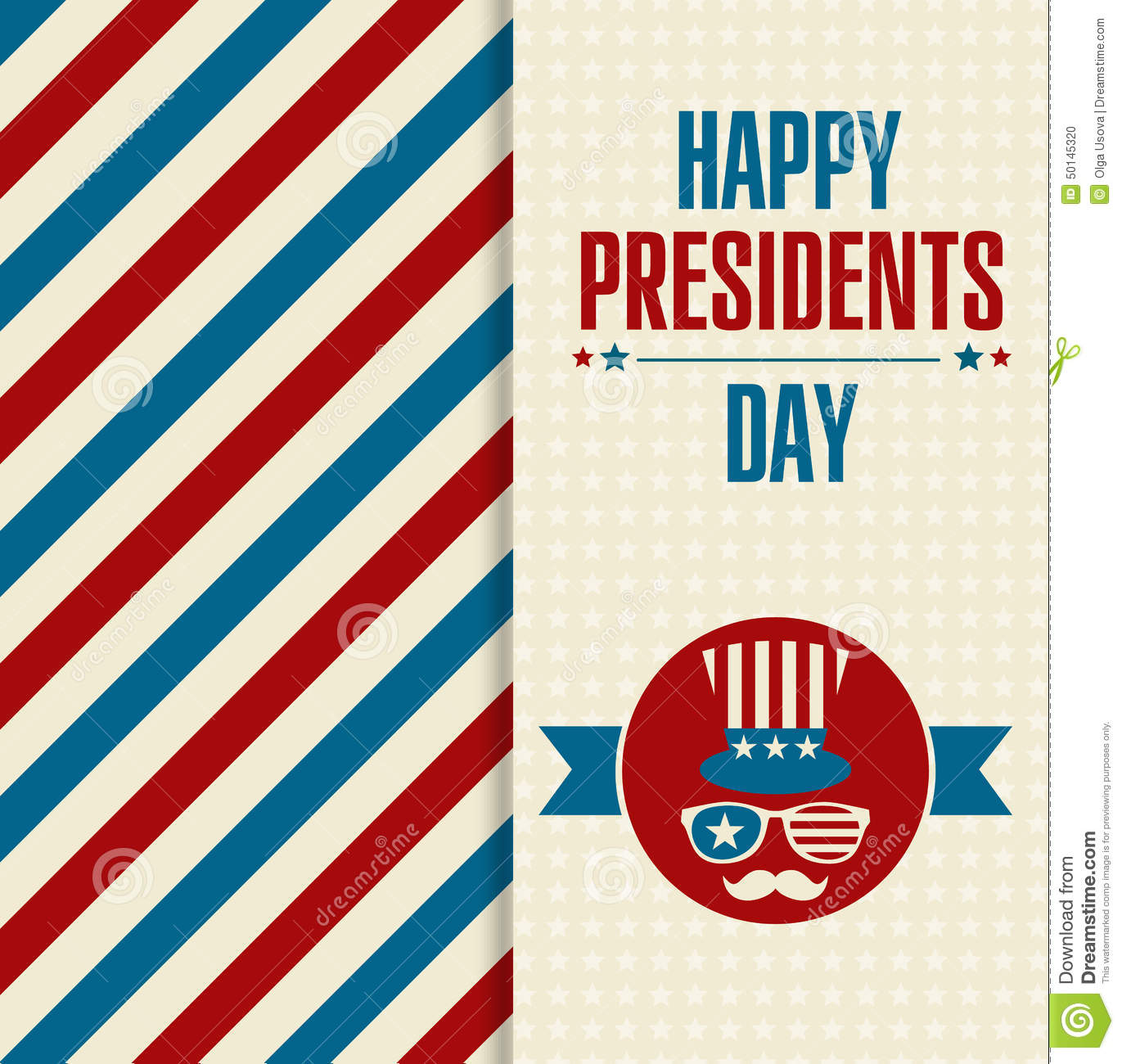 Extended Presidents Day: Illustration Of America. Stock Vector