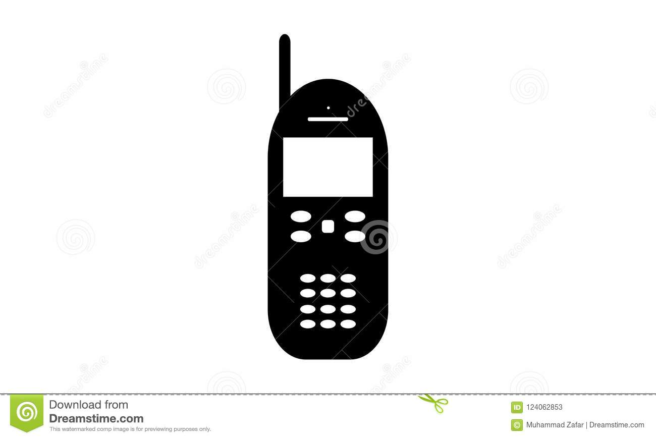 Android Mobile Phone - Cell Phone Icon - Old Keypad Mobile Phone