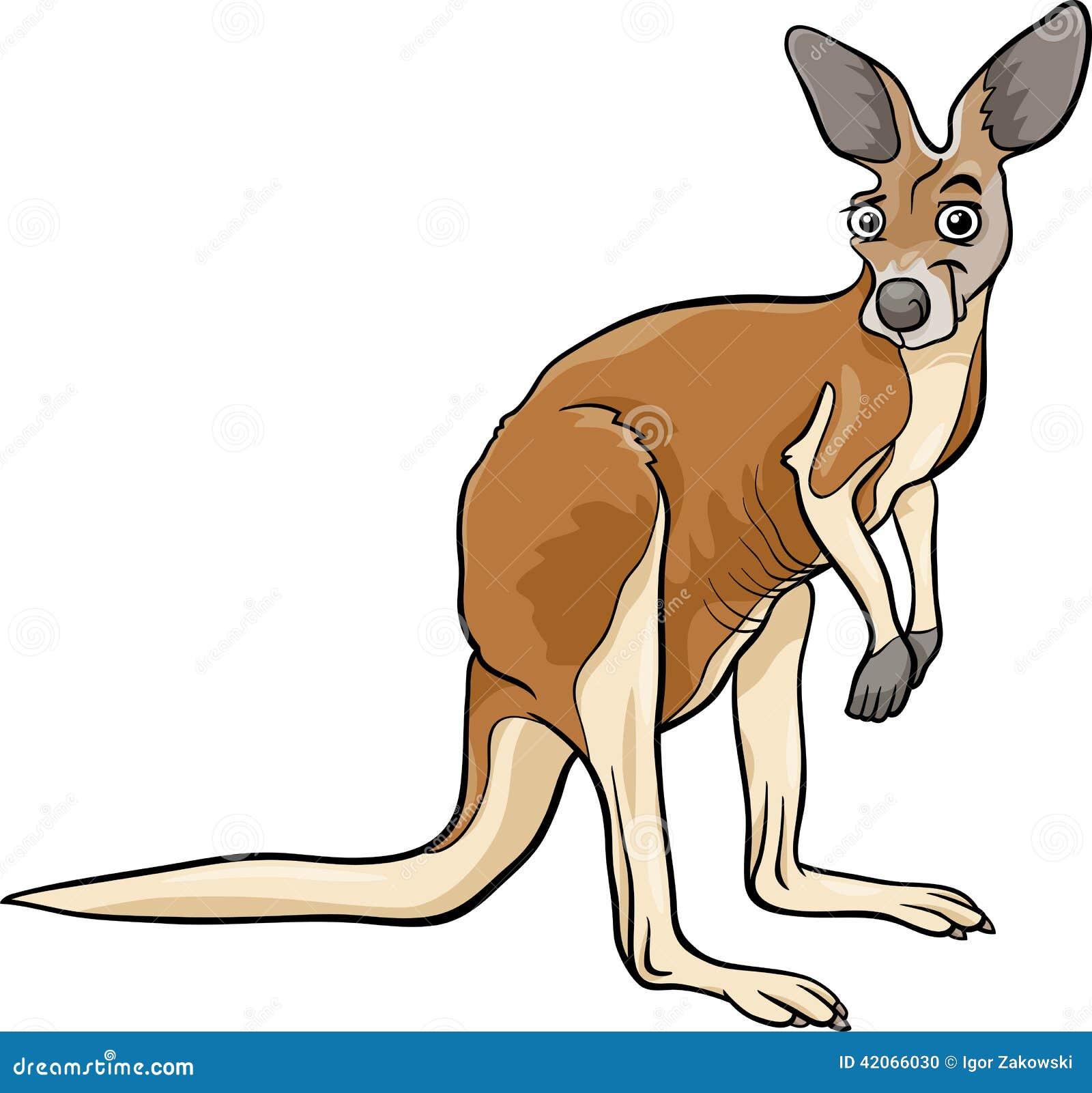 Illustration Animale De Bande Dessin U00e9e De Kangourou