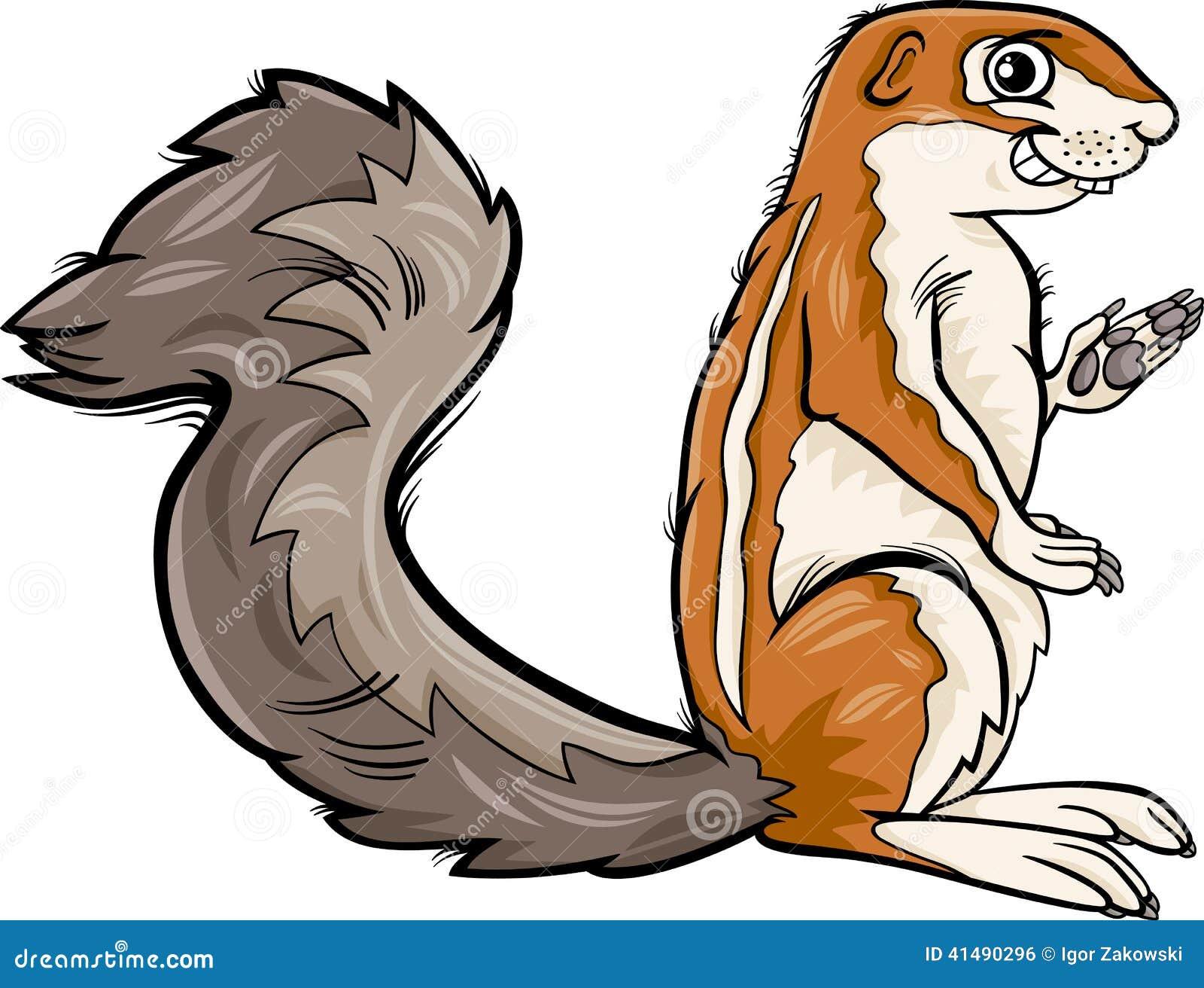 illustration animale de bande dessinée de xerus