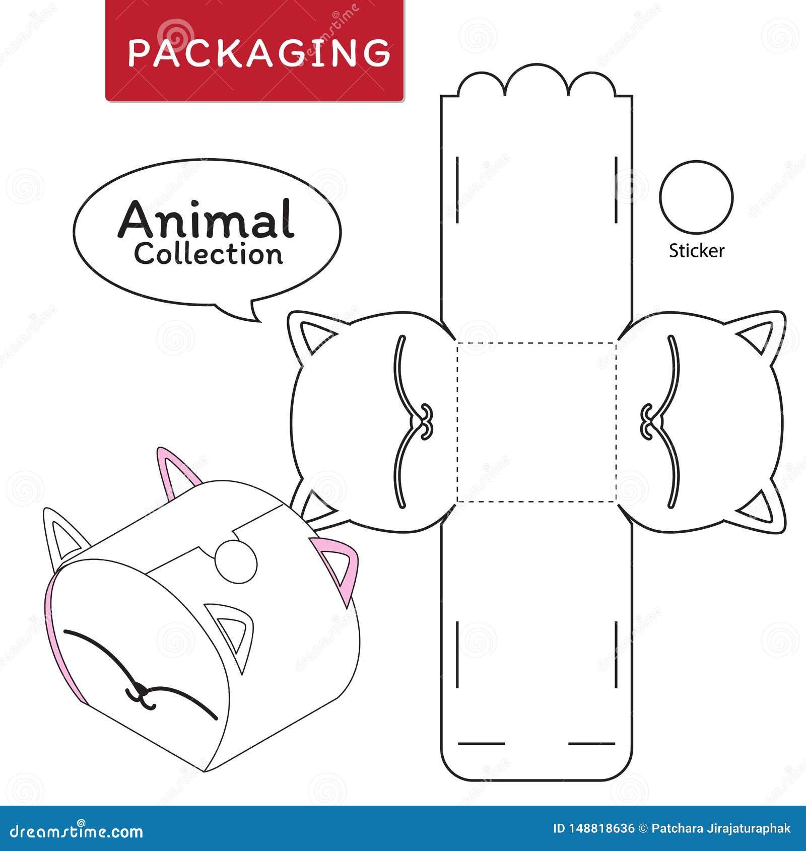 Illustration animale de vecteur de collection de bo?te