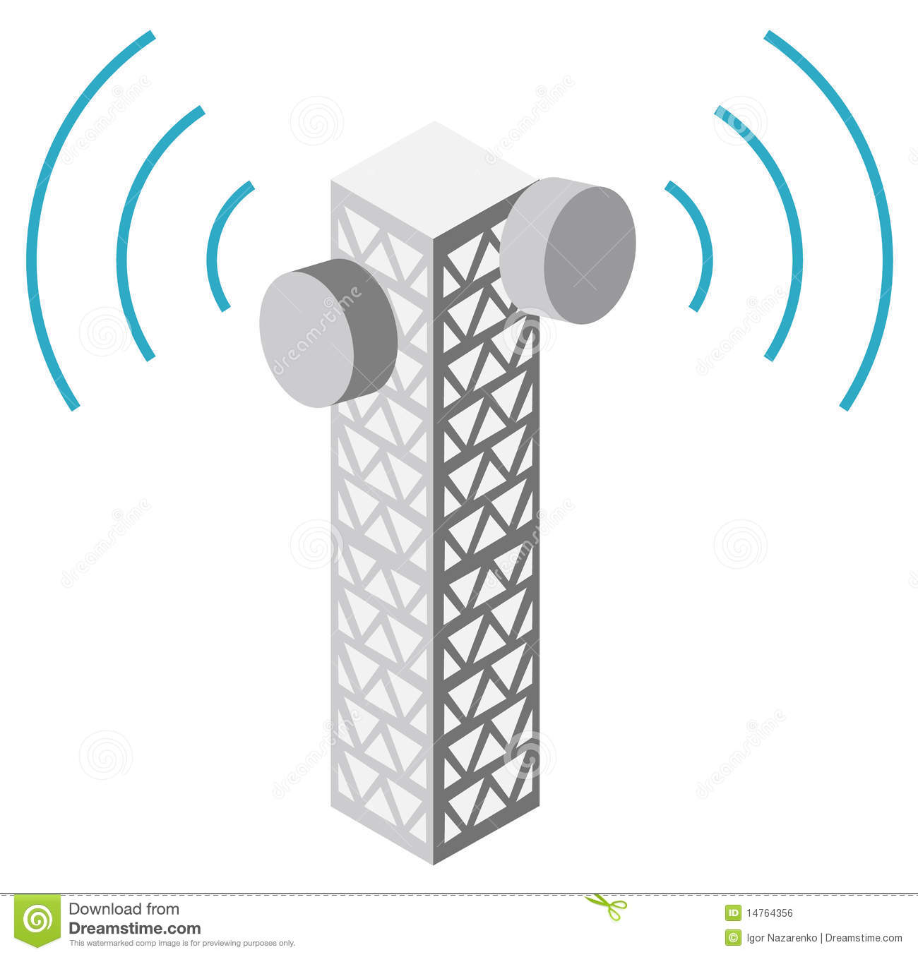 Illustration Of Antenna Tower Royalty Free Stock Image - Image ...