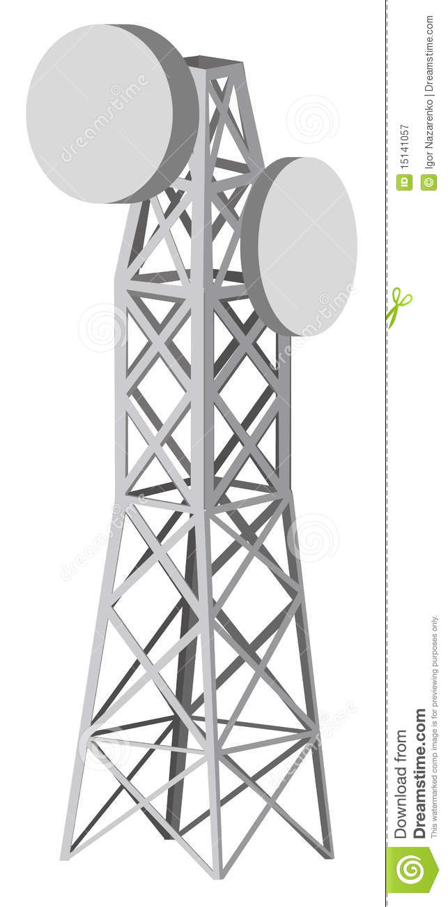 Royalty Free Stock Photography Illustration Antenna Tower Image15141057 on tower radio network