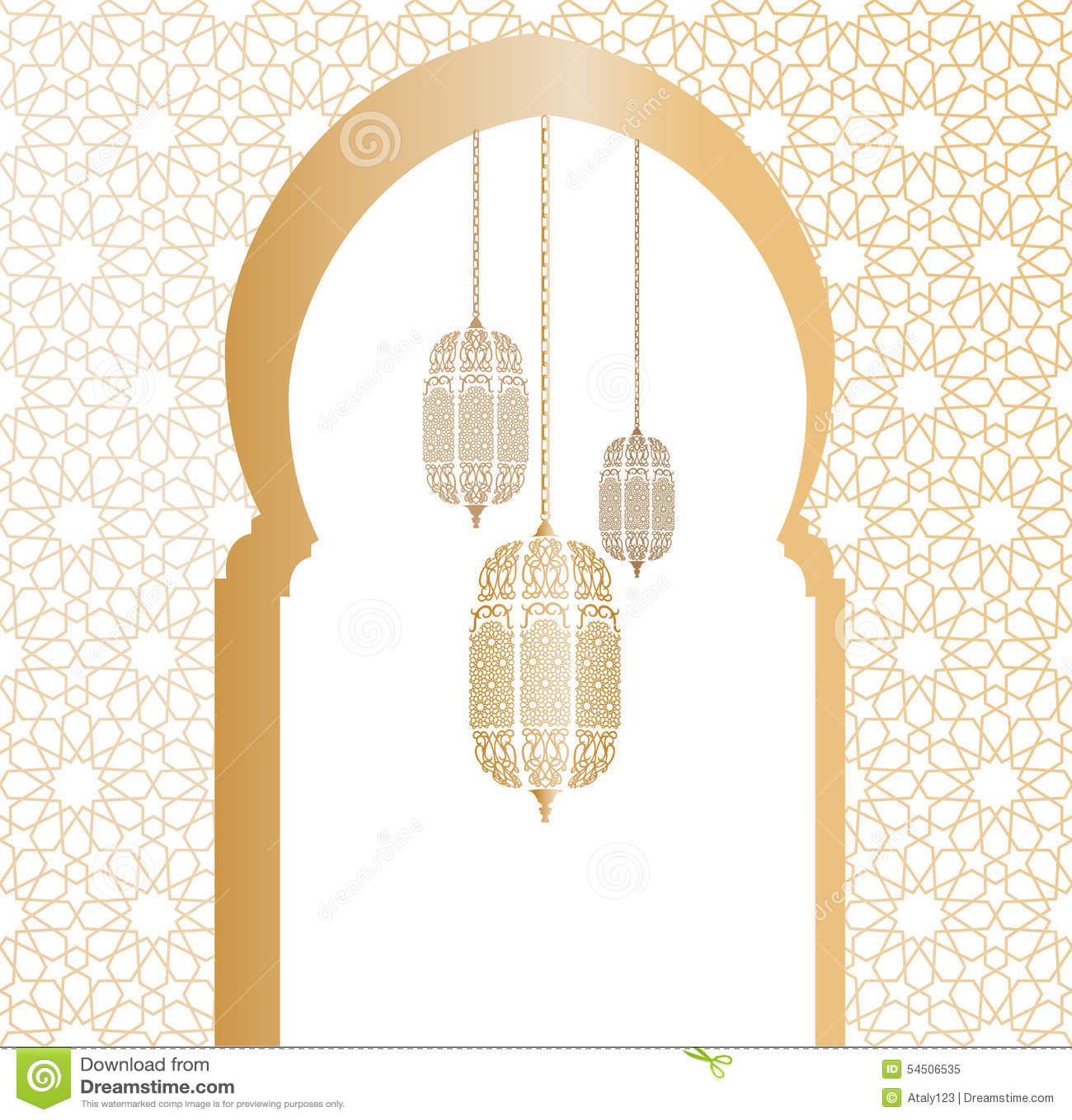 Illustration arabe de vecteur