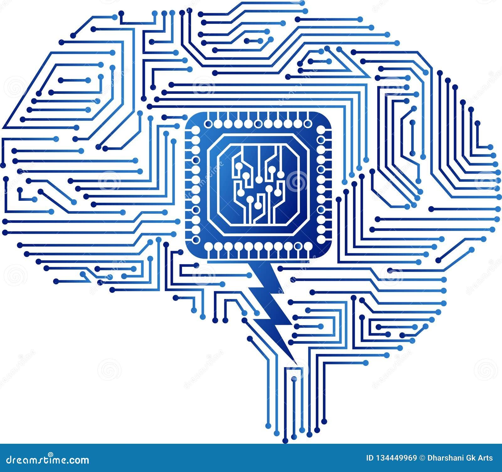 Brain circuit logo
