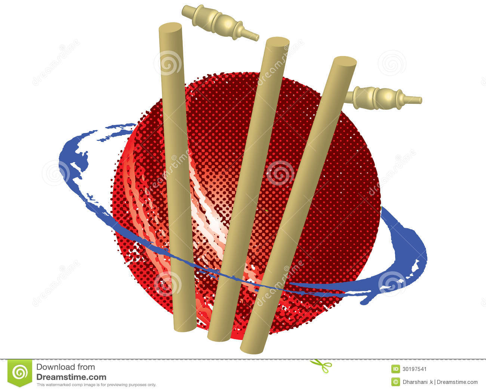 Cricket Vector Background Stock Image: Cricket Symbol Stock Image