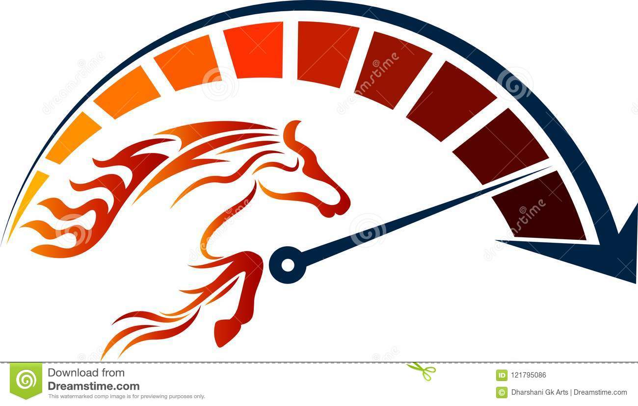 Speed Racing Horse Logo Stock Vector Illustration Of Dial 121795086