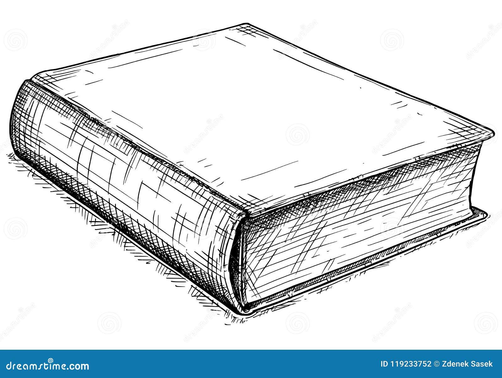 Illustration Artistique De Dessin De Vecteur De Vieux Livre