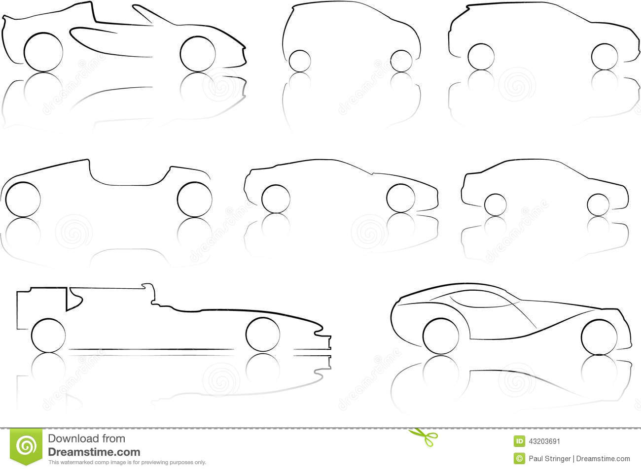 Download Illustration Av översikter Av Bilar Stock Illustrationer - Illustration av bild, limousine: 43203691