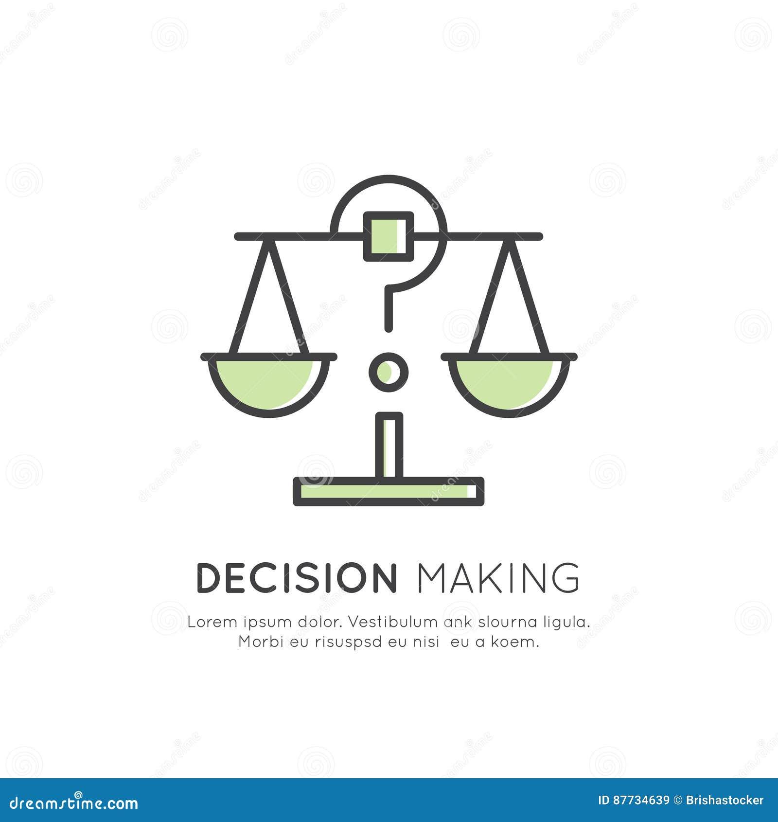 Illustration av Analytics, ledning, tänkande expertis för affär, beslutsfattande, Tid ledning, minne, Sitemap, idékläckning a