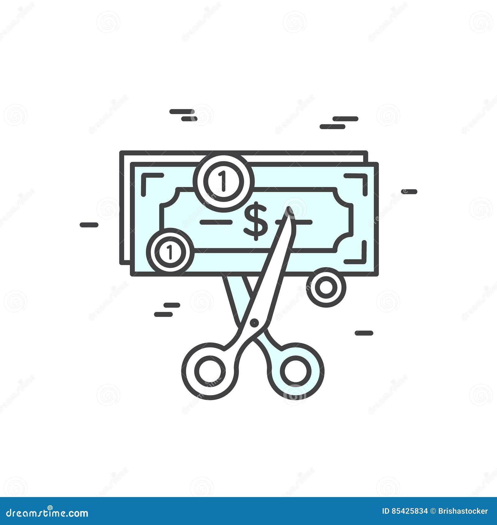 Illustration av budgetnedskärning