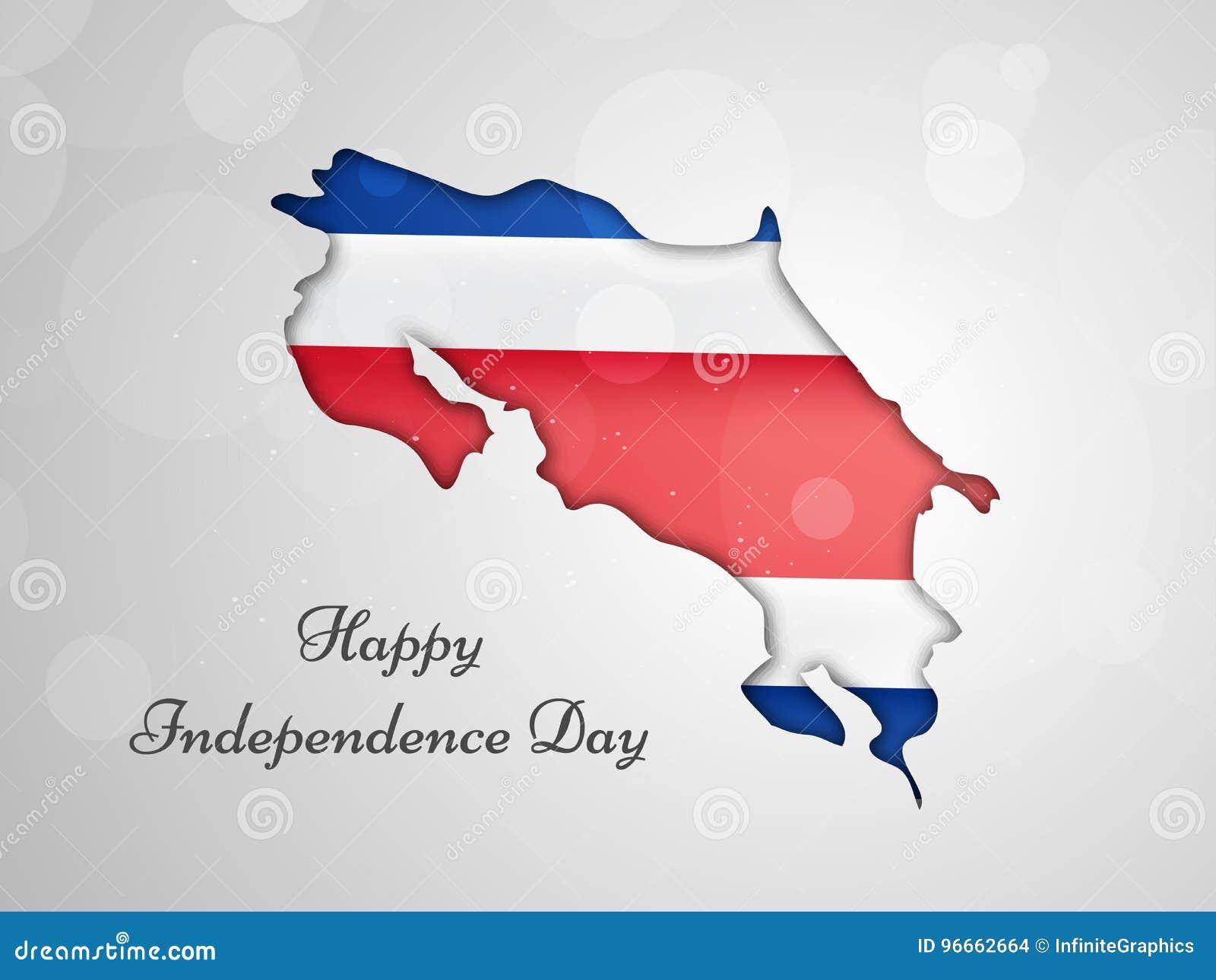 Illustration av Costa Rica Independence Day Background