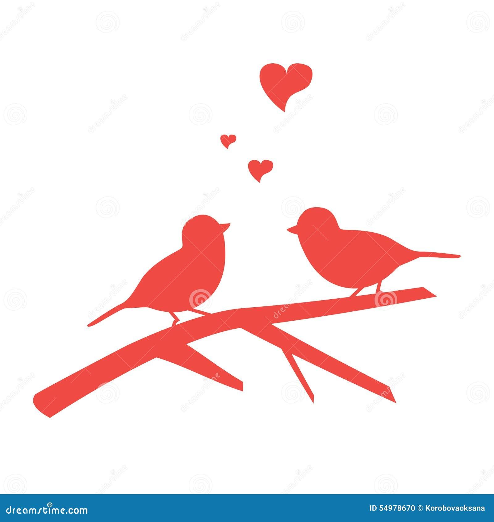 Illustration av fågeln på filial