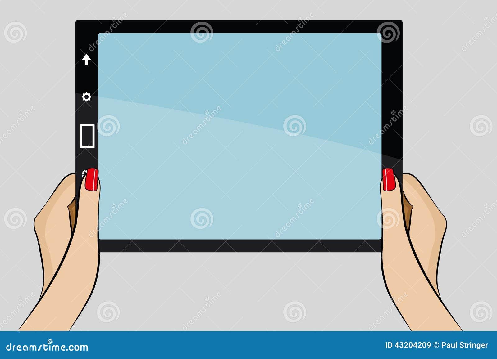 Download Illustration Av Kvinnas Hand Som Rymmer Ett Affärskort Stock Illustrationer - Illustration av ställe, spika: 43204209