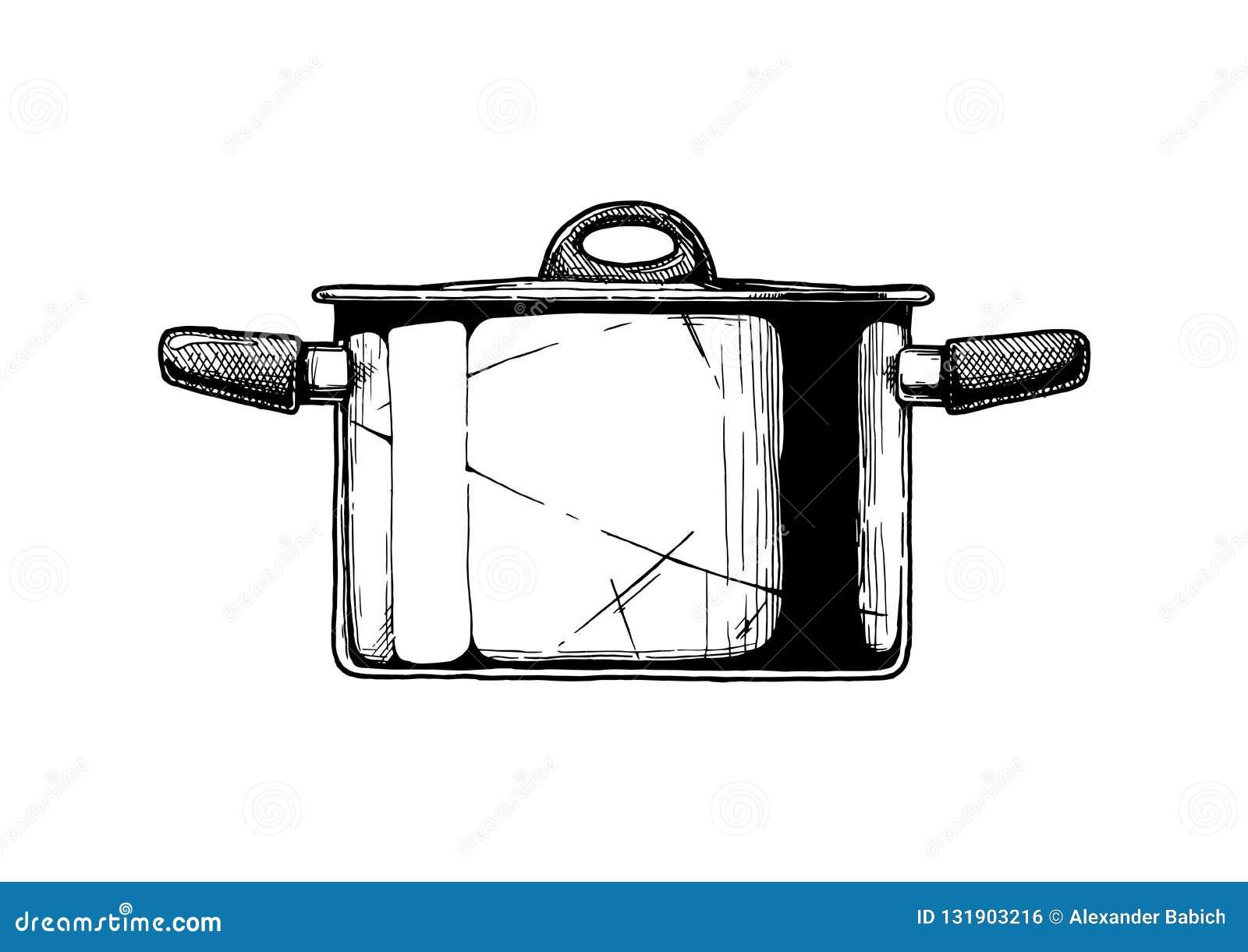 Illustration av materielkrukan