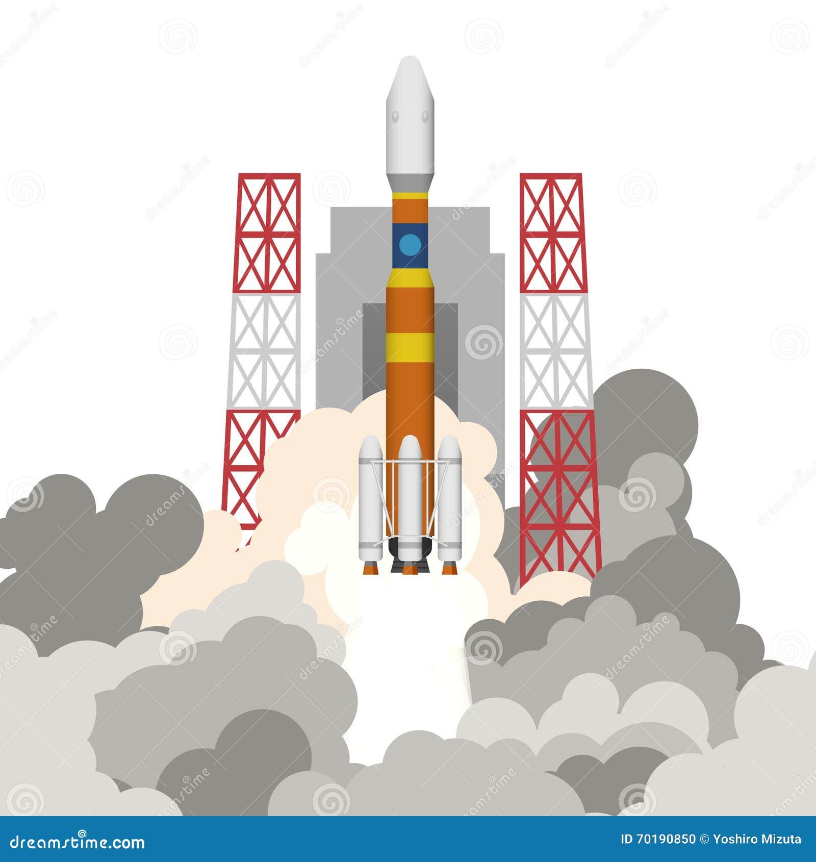 Illustration av raketlanseringen