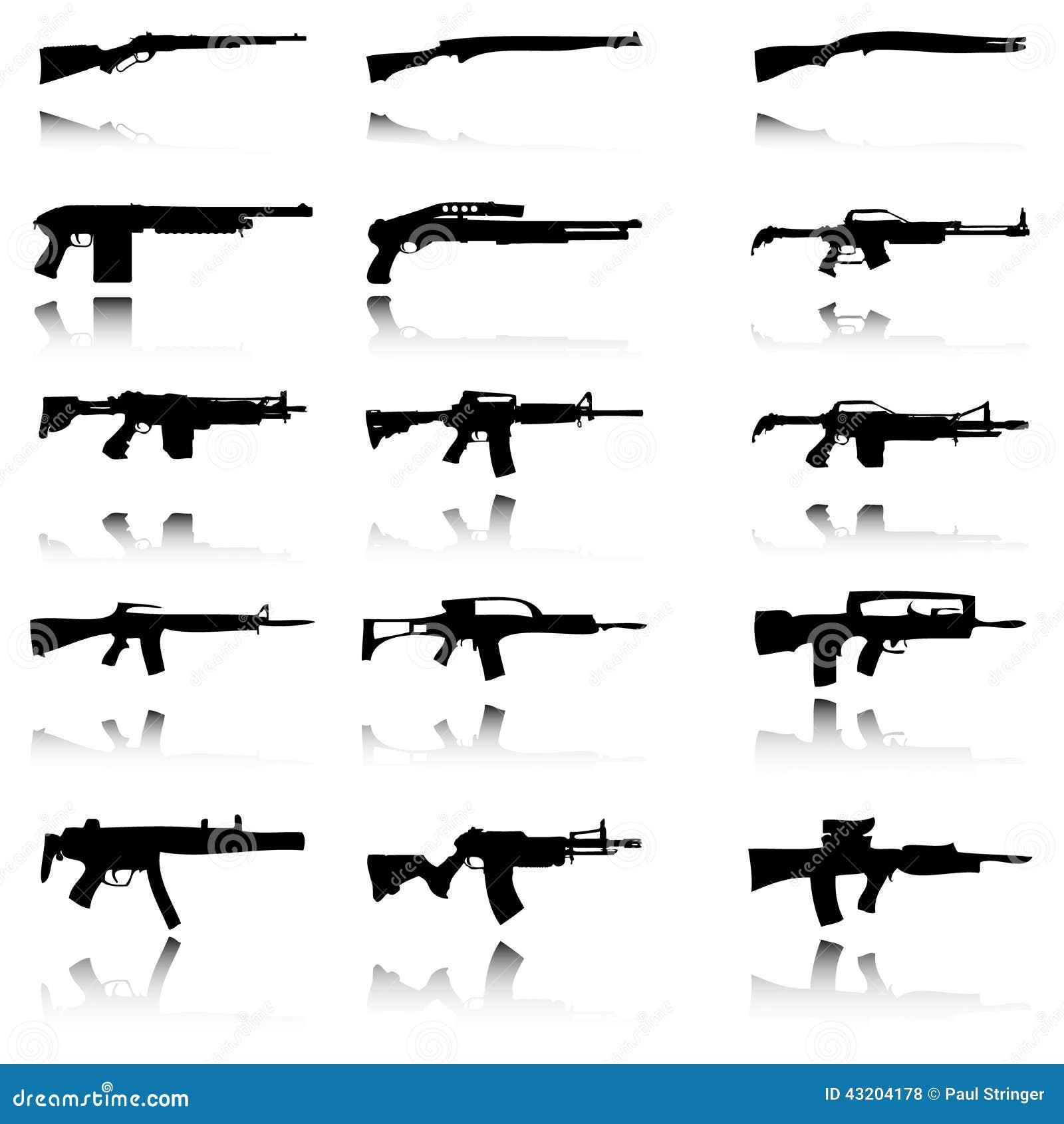 Download Illustration Av Uppsättningen Av Vapen Stock Illustrationer - Illustration av gevär, bild: 43204178