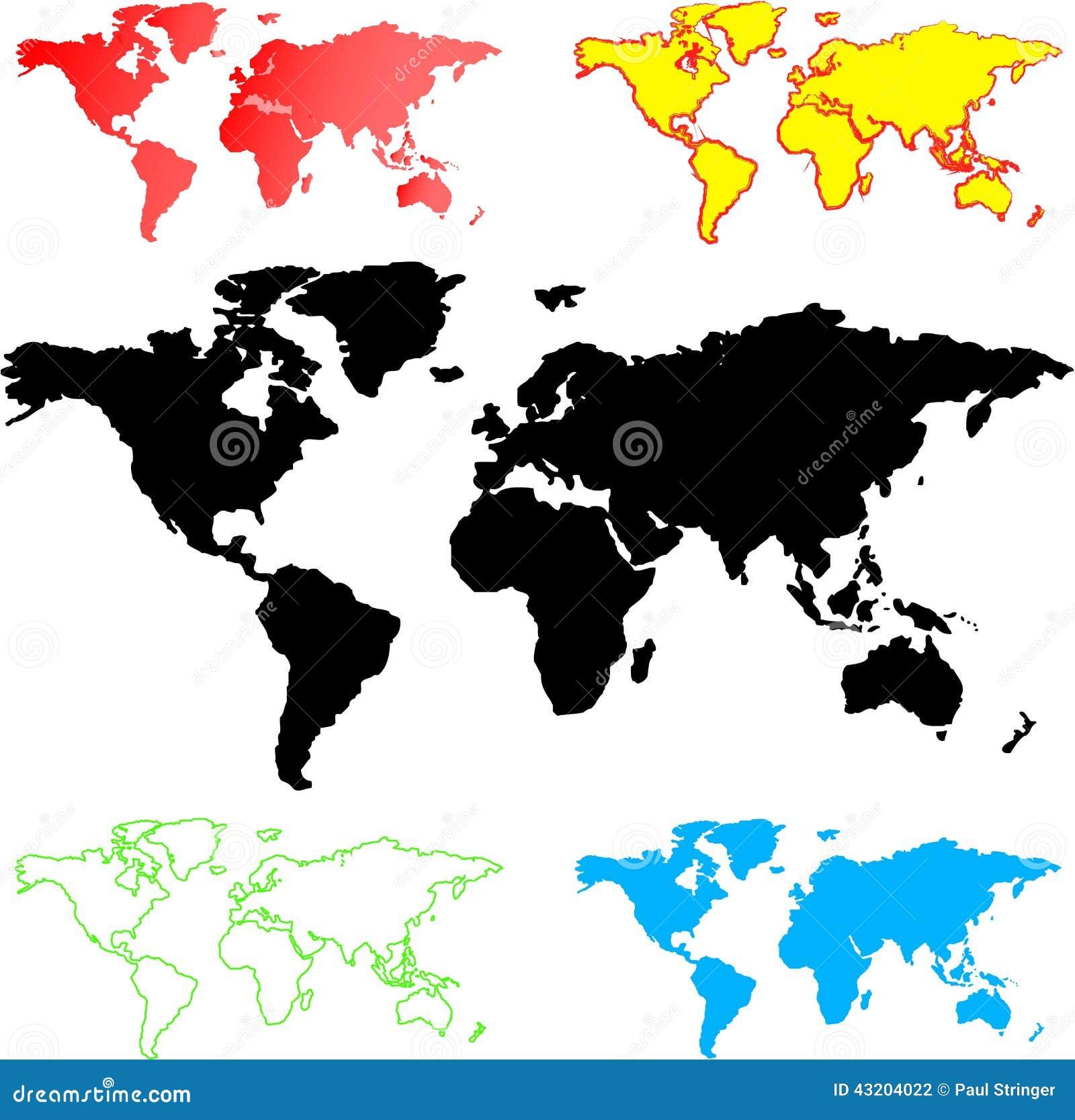 Download Illustration Av Världskartor Stock Illustrationer - Illustration av element, modernt: 43204022
