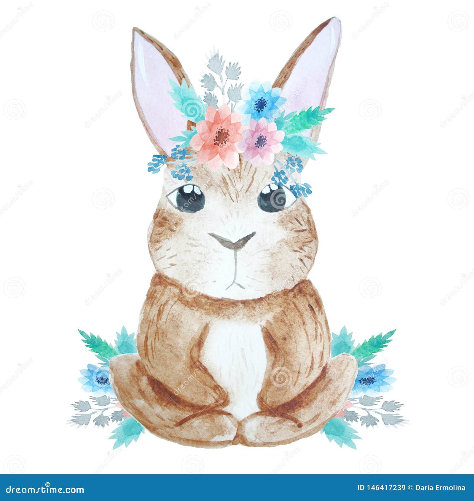 Illustration avec le lapin mignon