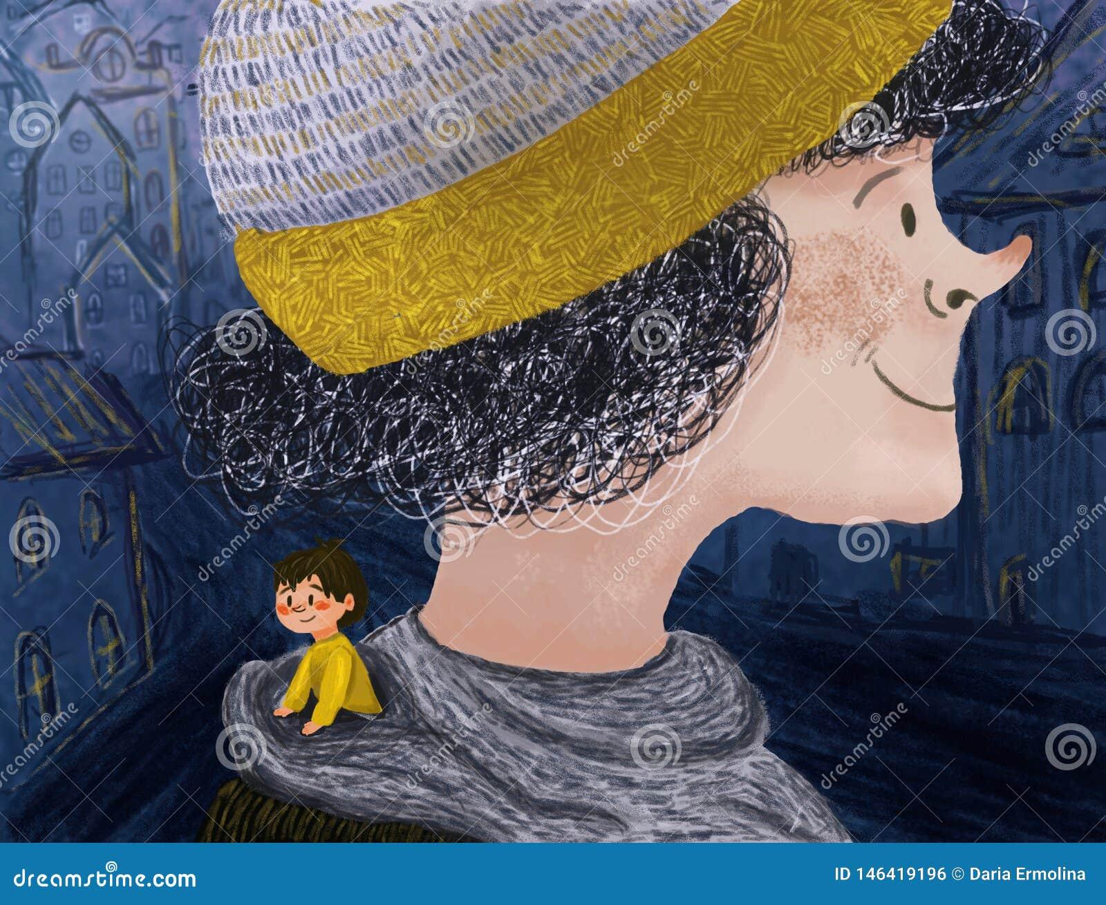 Illustration avec un petit gar?on