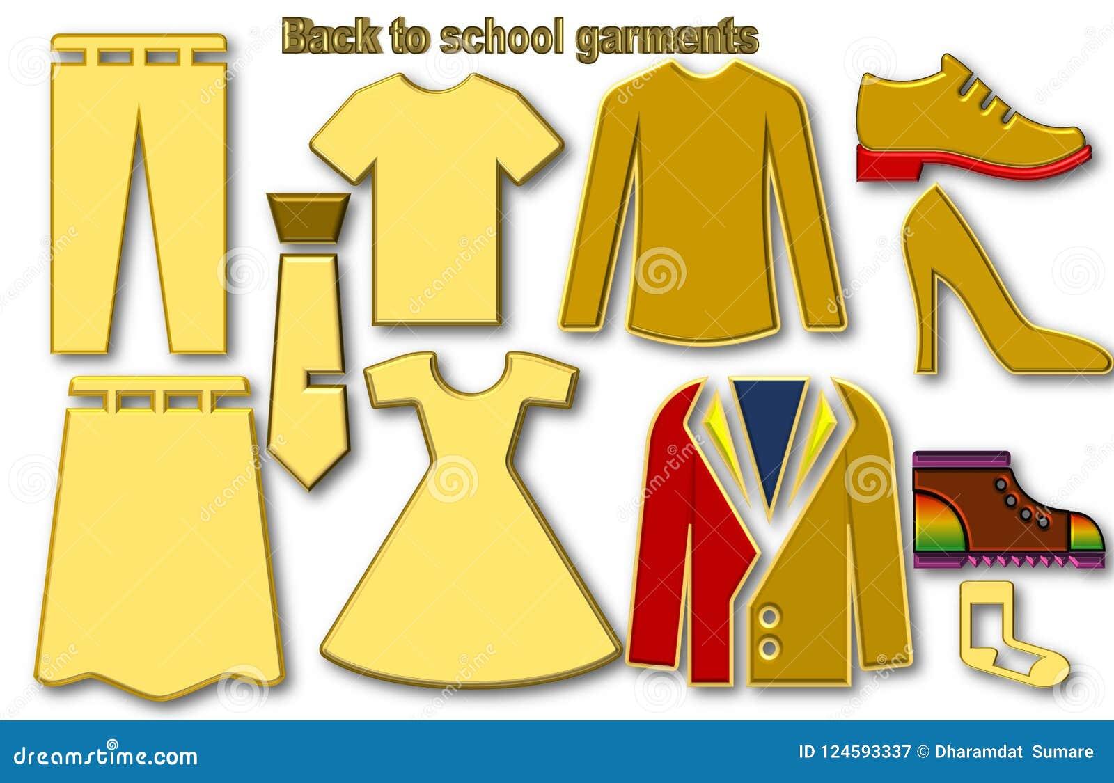 Back to school garments