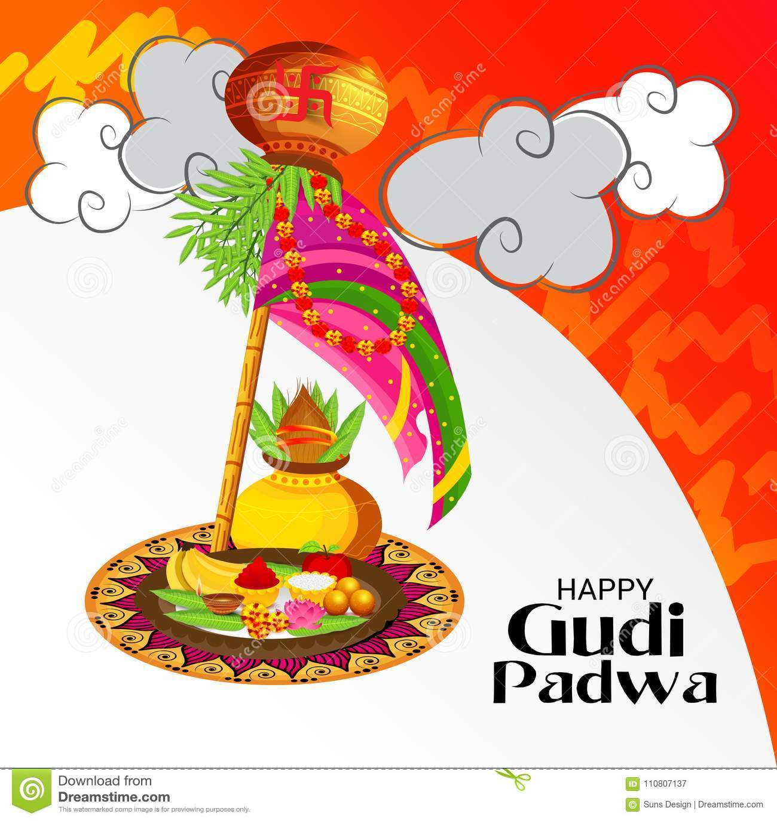 Happy gudi padwa marathi new year stock illustration illustration download happy gudi padwa marathi new year stock illustration illustration of card india m4hsunfo