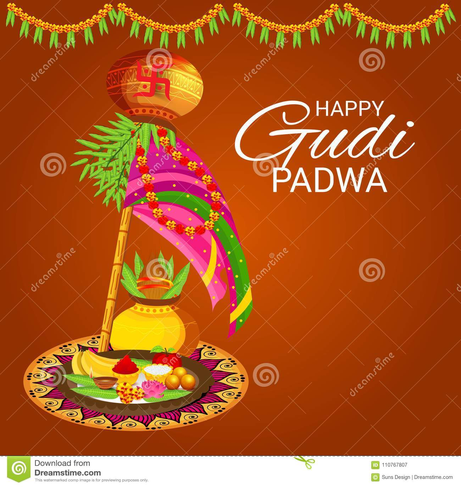 Happy gudi padwa marathi new year stock illustration illustration happy gudi padwa marathi new year culture card kristyandbryce Gallery