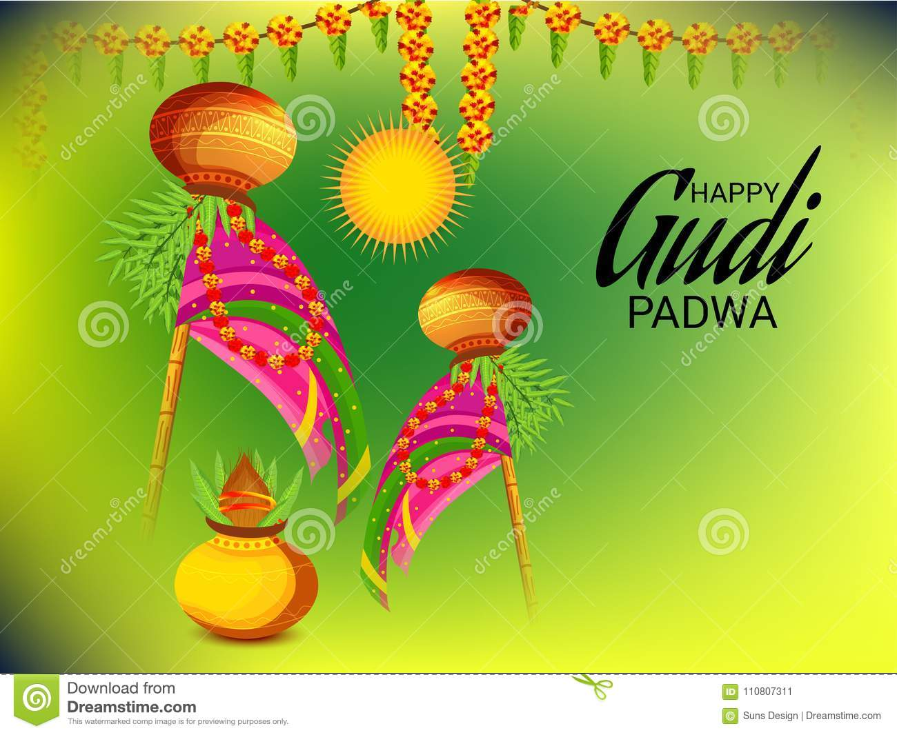 happy gudi padwa marathi new year