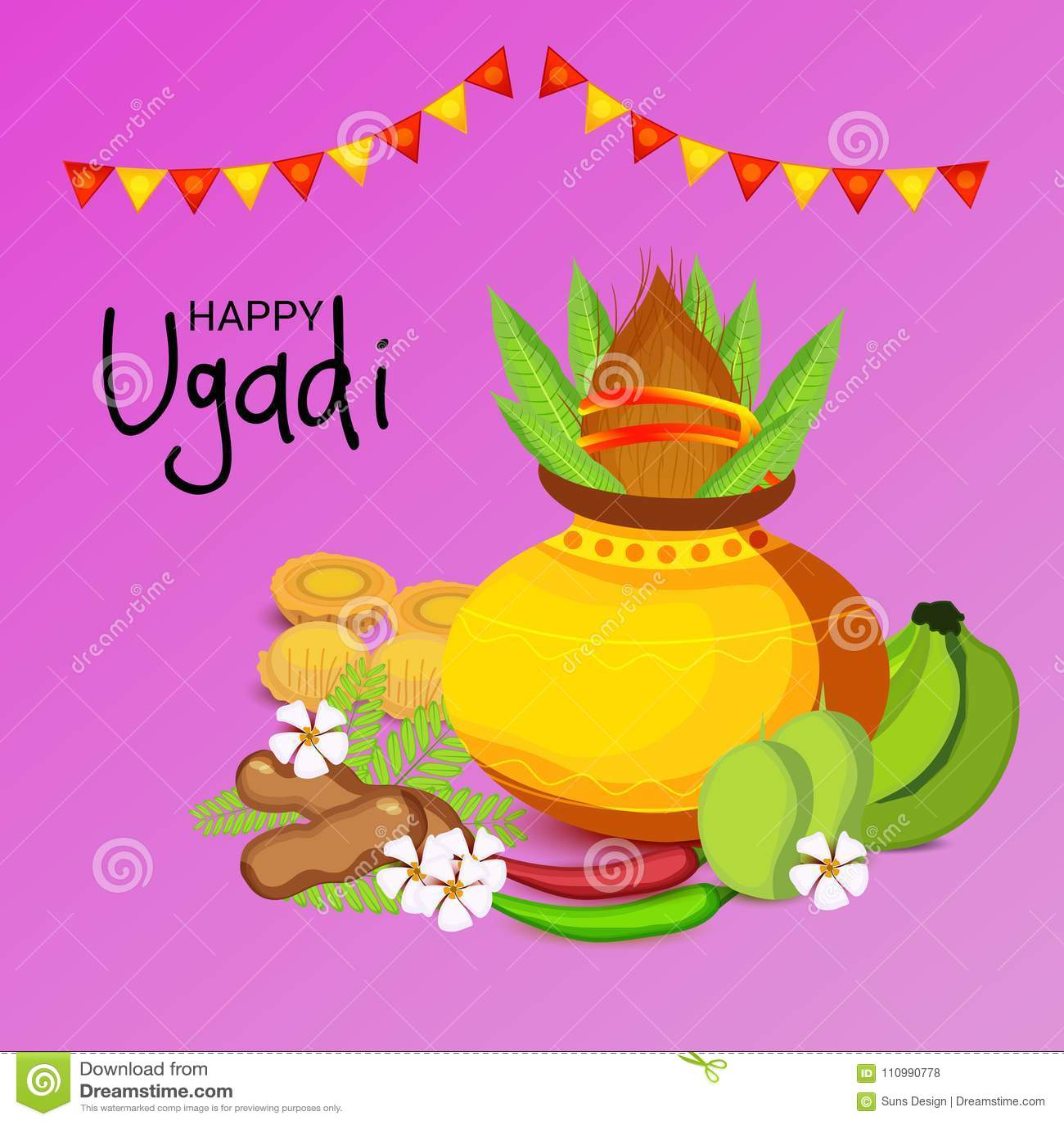 Happy ugadi hindu new year stock illustration illustration of happy ugadi hindu new year m4hsunfo