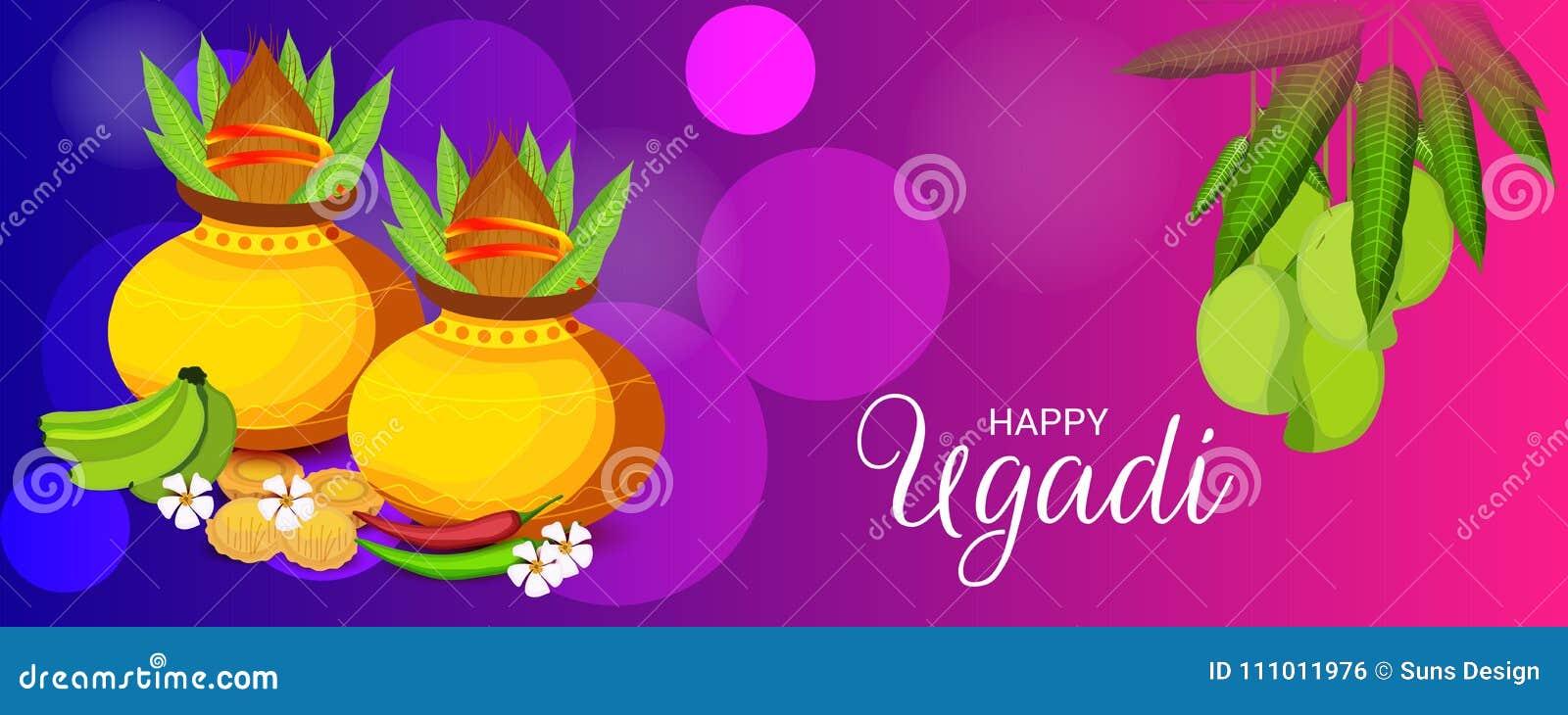 Happy Ugadi Hindu New Year Stock Illustration Illustration Of