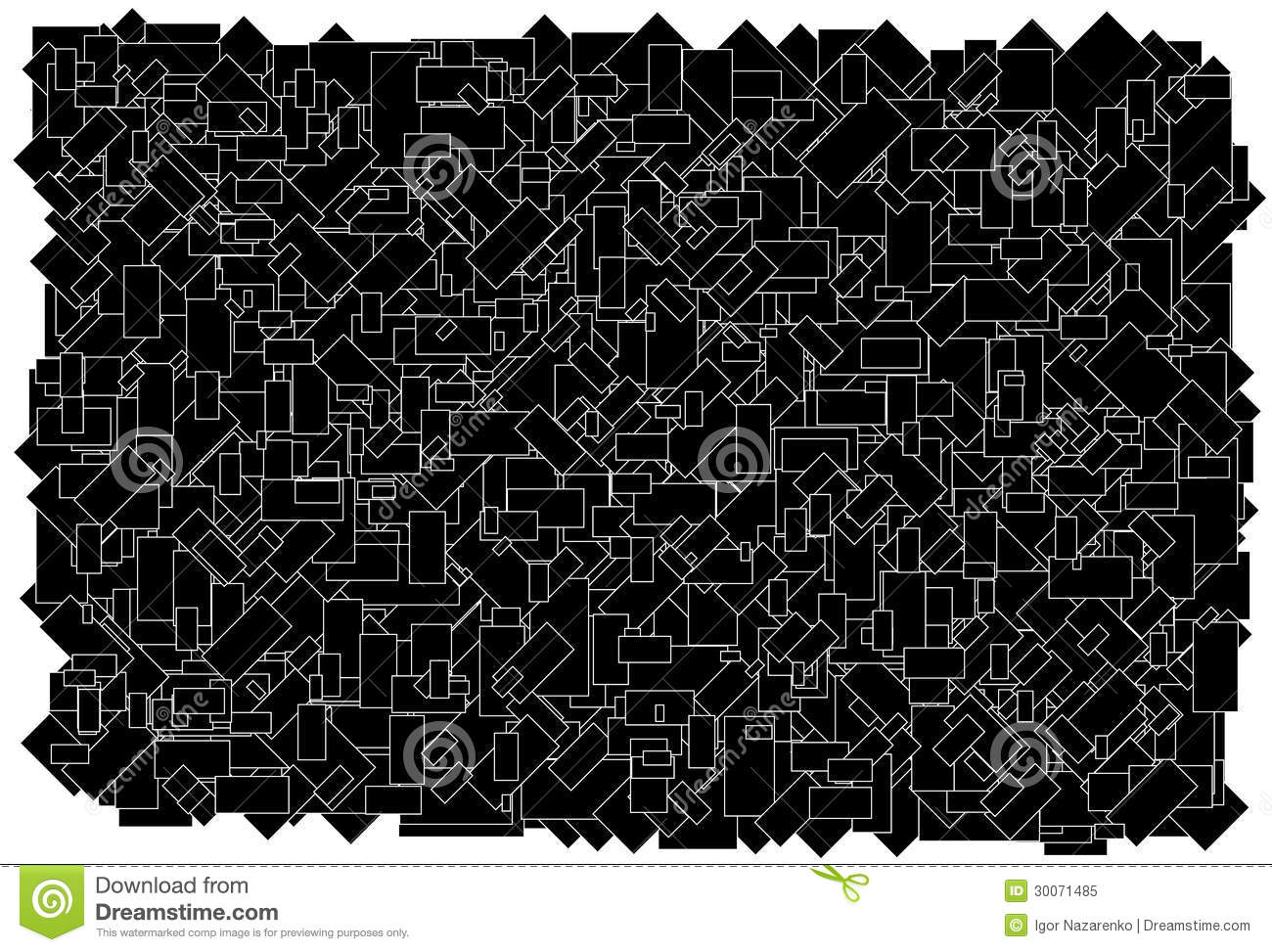 Background made of various size black rectangles w