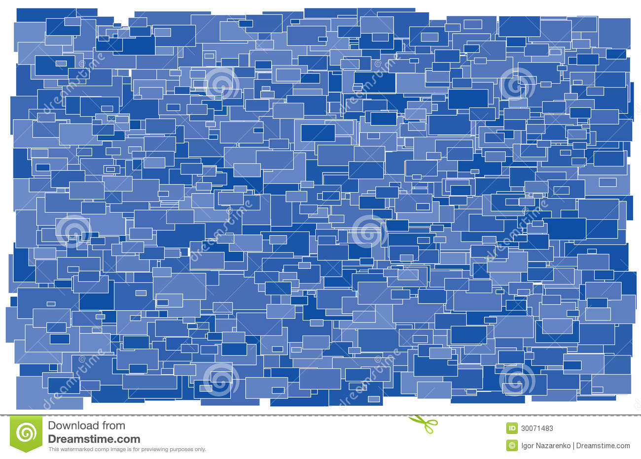 Background made of various size and shade blue rec