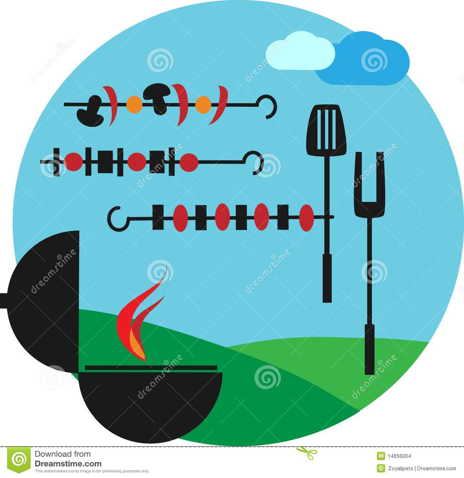 Illustration Of Backyard Bbq Scene Stock Images Image - Backyard bbq party cartoon