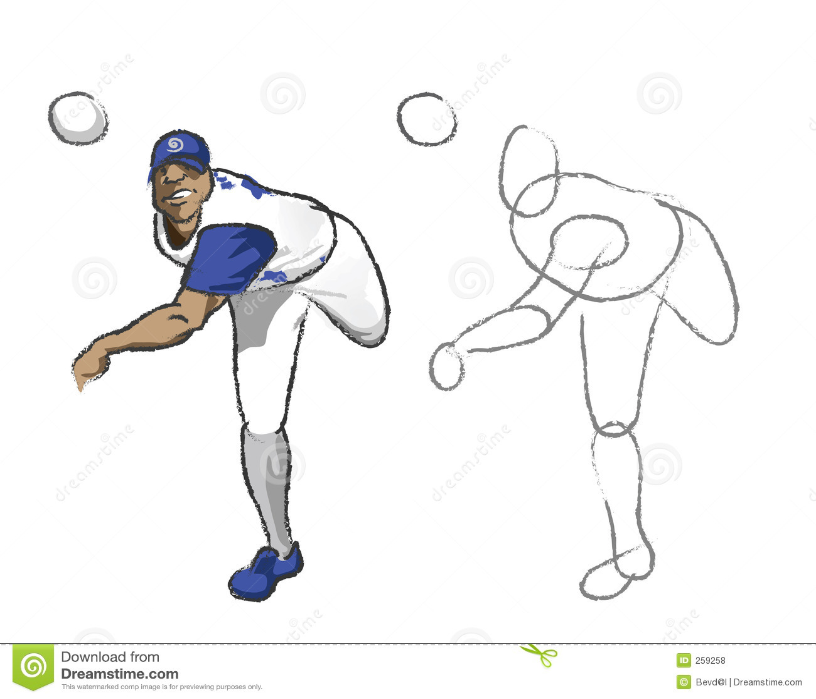 Uncategorized How To Draw A Baseball Pitcher illustration baseball player royalty free stock photos image photo