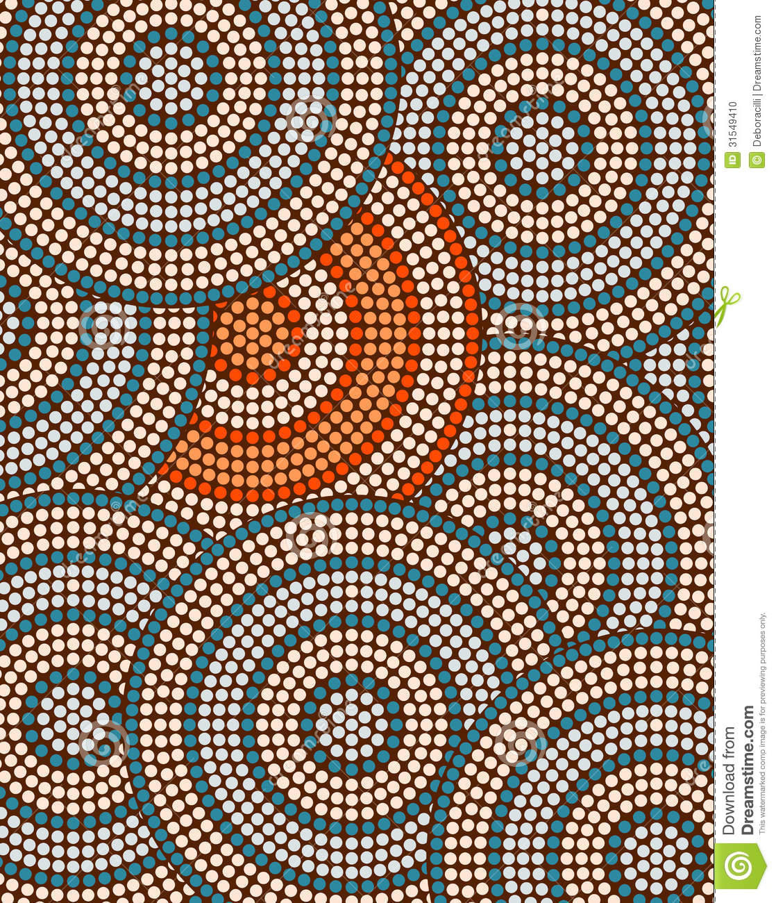 Aboriginal Design Wallpaper : A illustration based on aboriginal style of dot painting