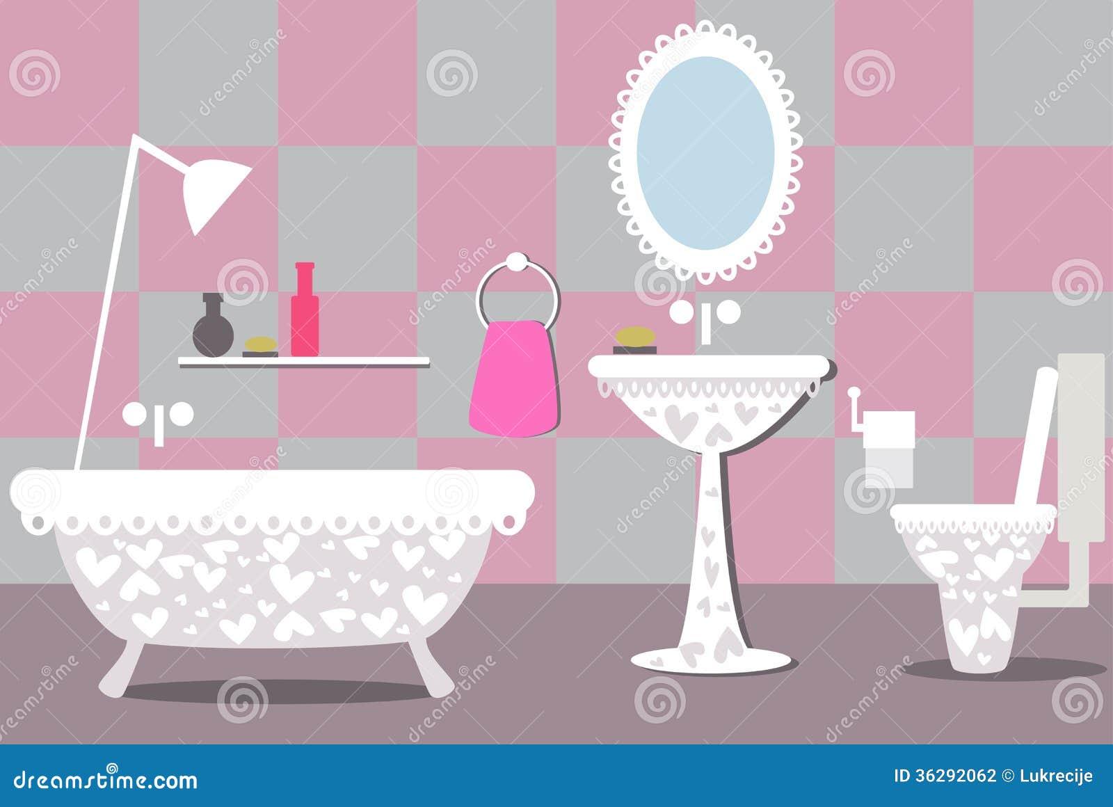 Illustration Of Bathroom Stock Photography Image 36292062