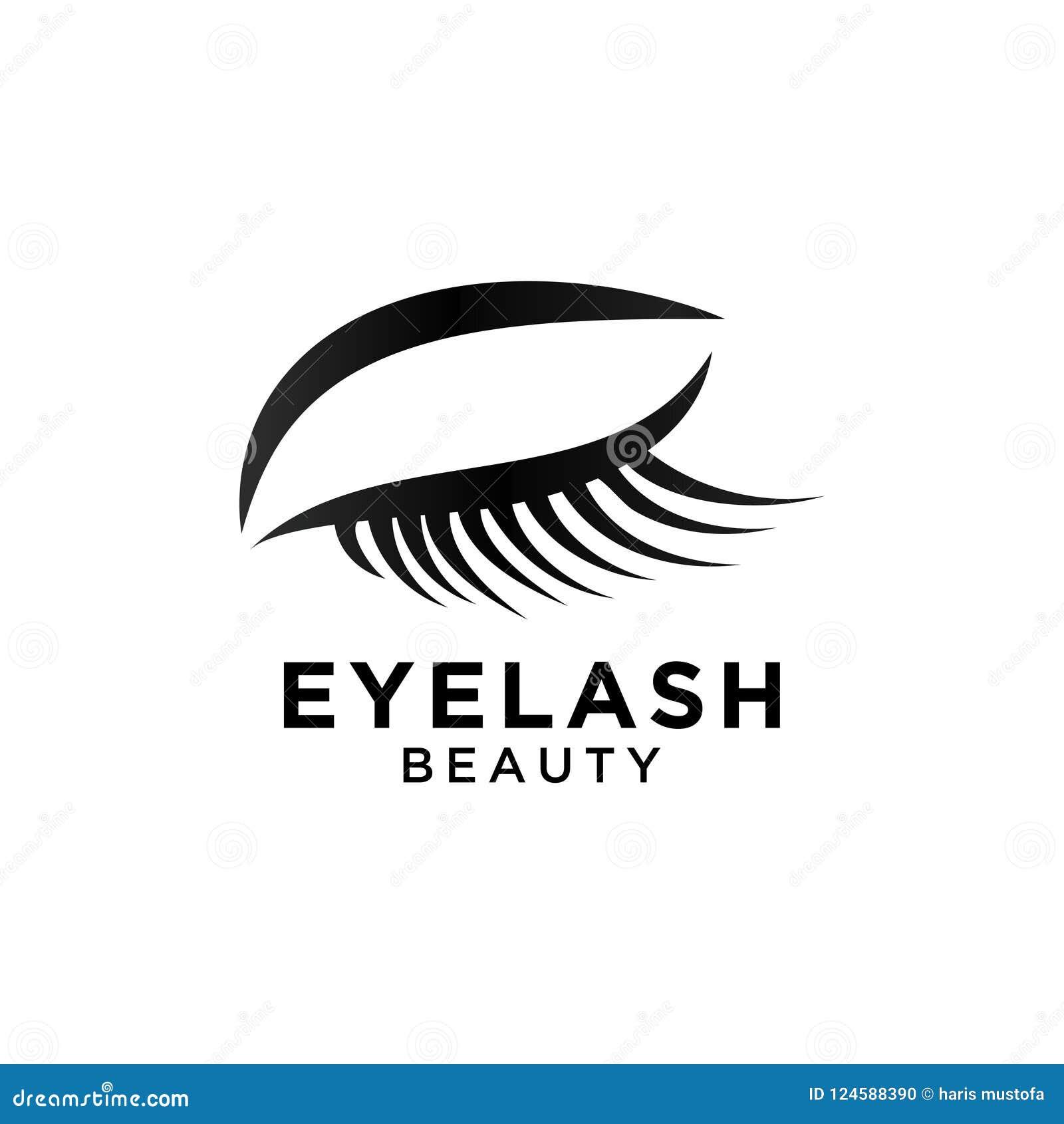 Illustration Of Beautiful Eyelash Symbol Template Stock Vector
