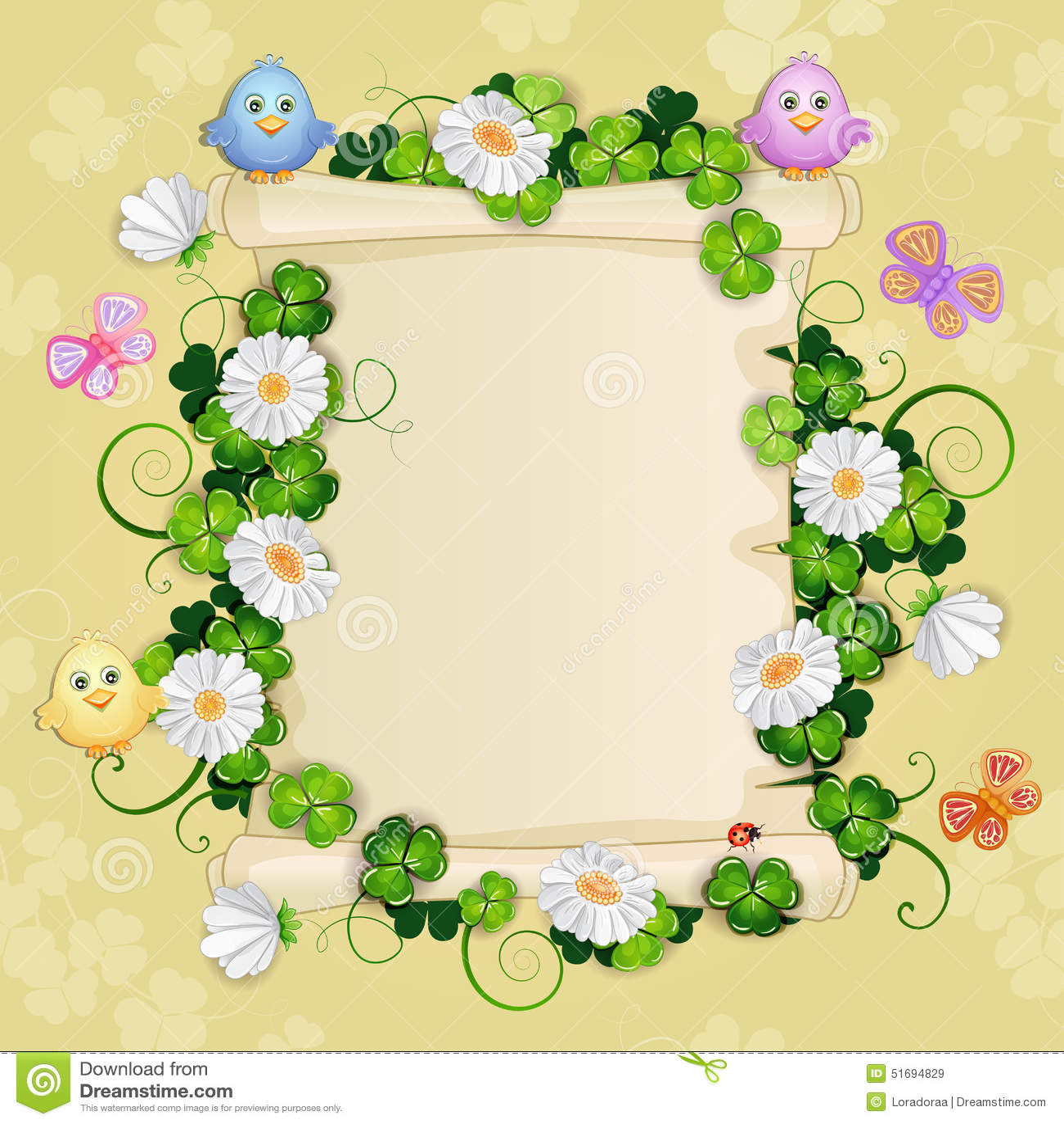 Illustration with beautiful flowers stock illustration download illustration with beautiful flowers stock illustration illustration of flower cute 51694829 izmirmasajfo