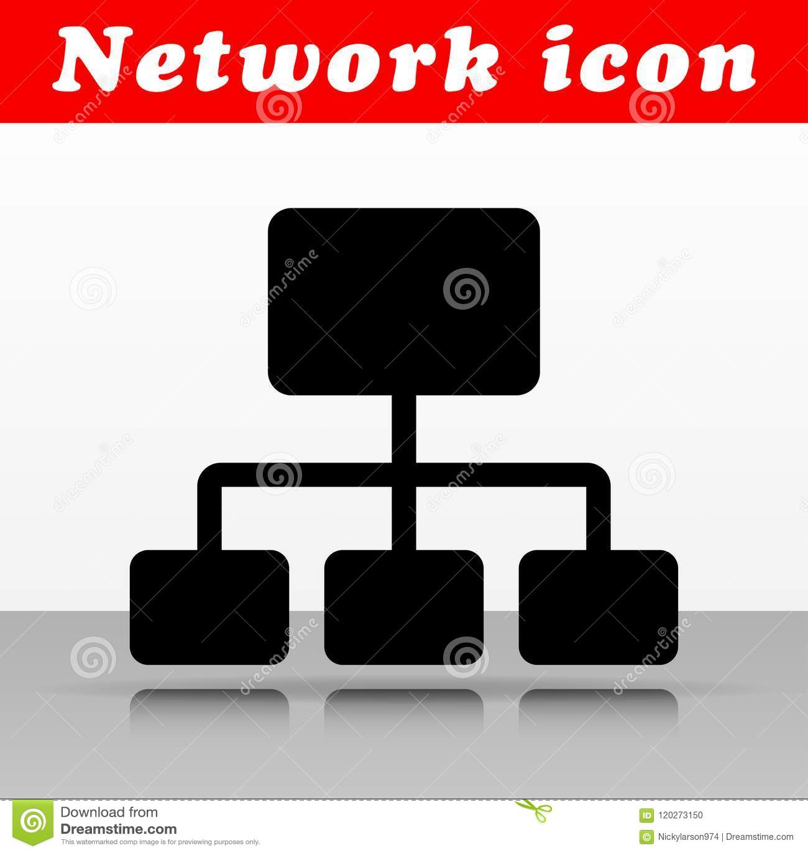 Black network vector icon design