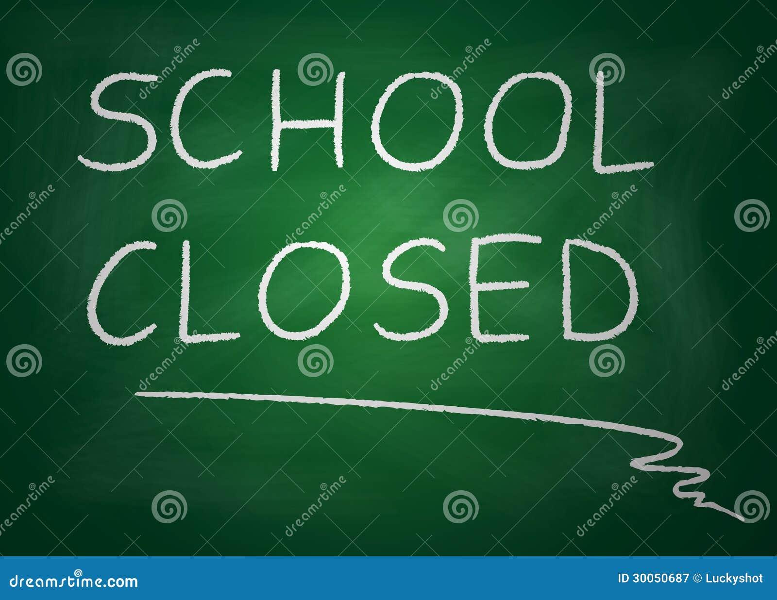School Closed Stock Illustration Illustration Of