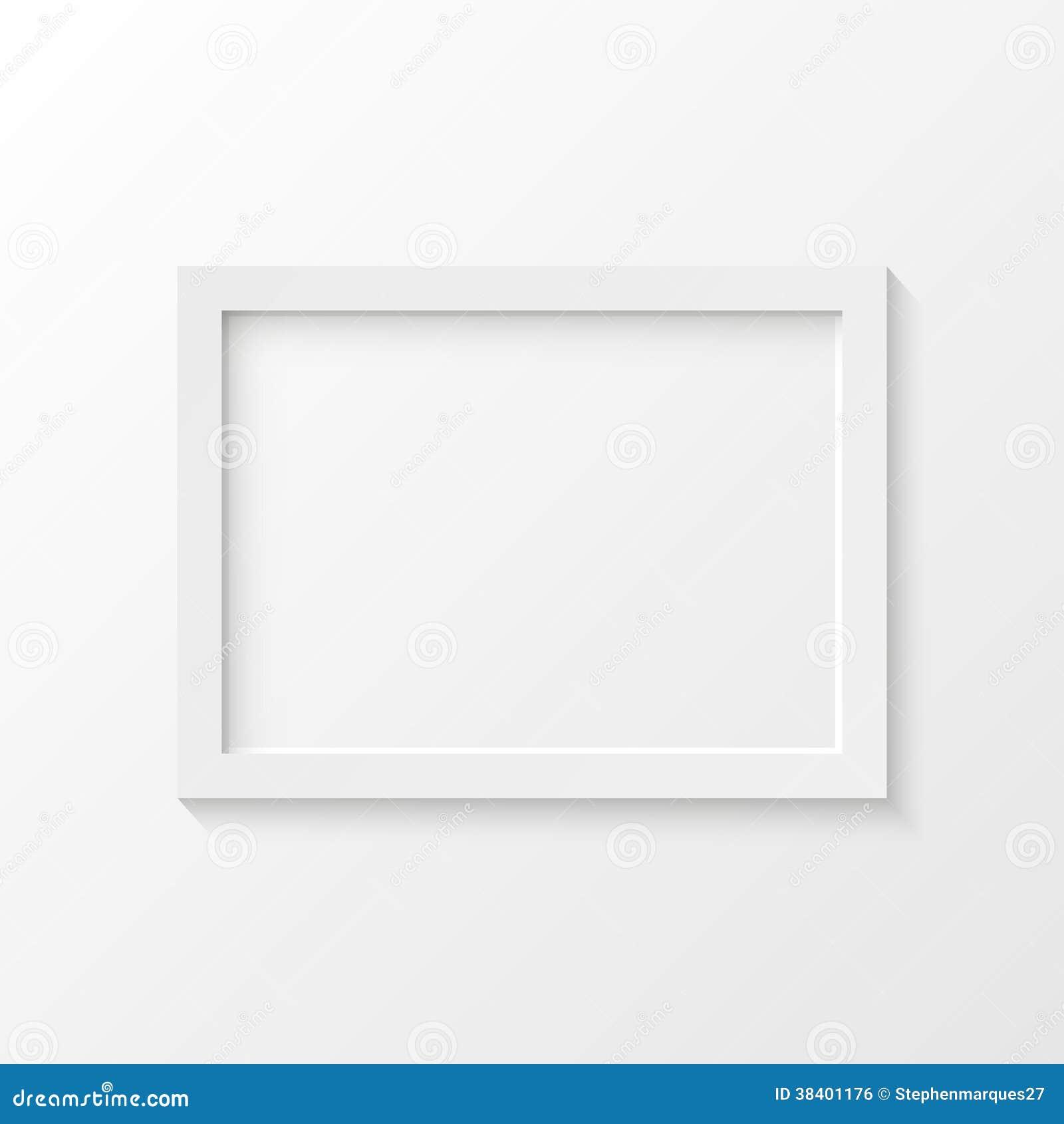Illustration blanche de vecteur de cadre de tableau image for Image de cadre de tableau