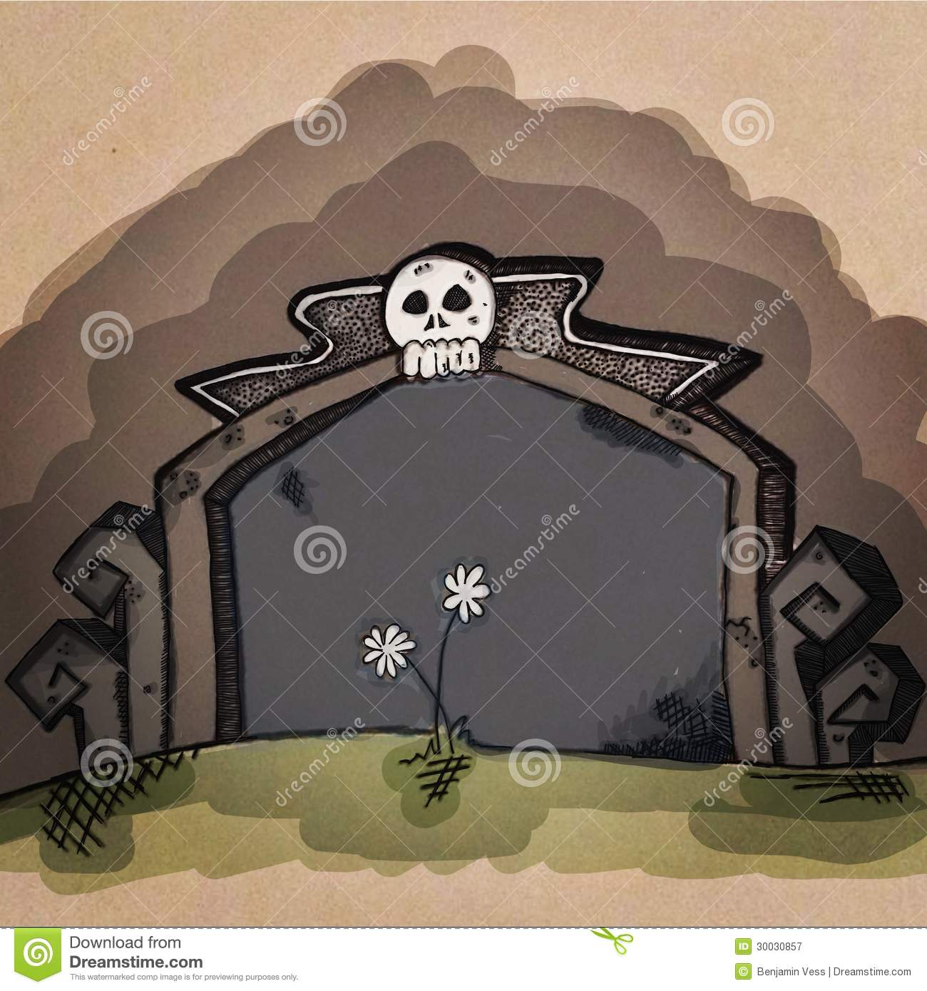 blank cartoon tombstone royalty free stock photography