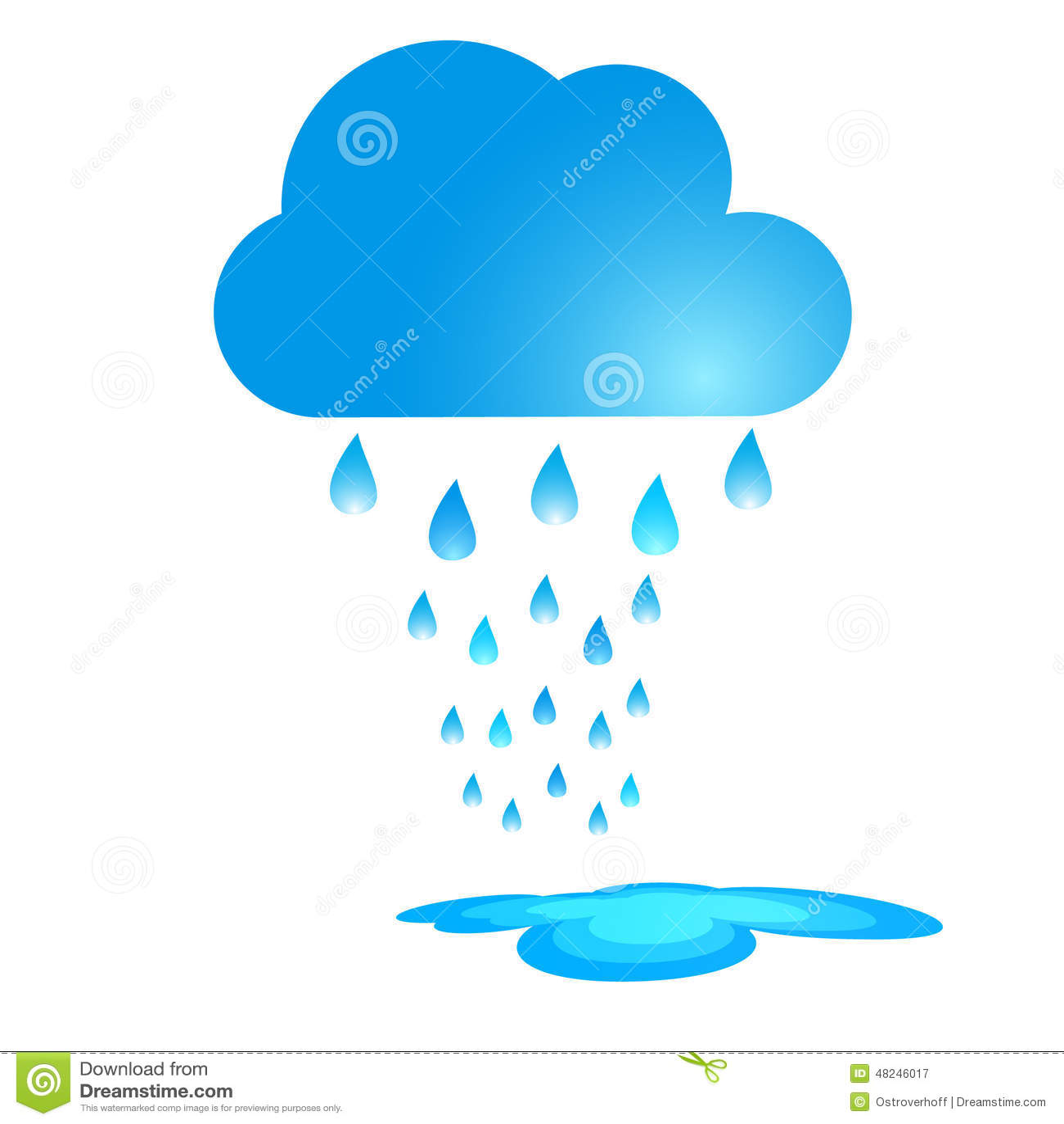 Illustration bleue de vecteur de nuage de pluie