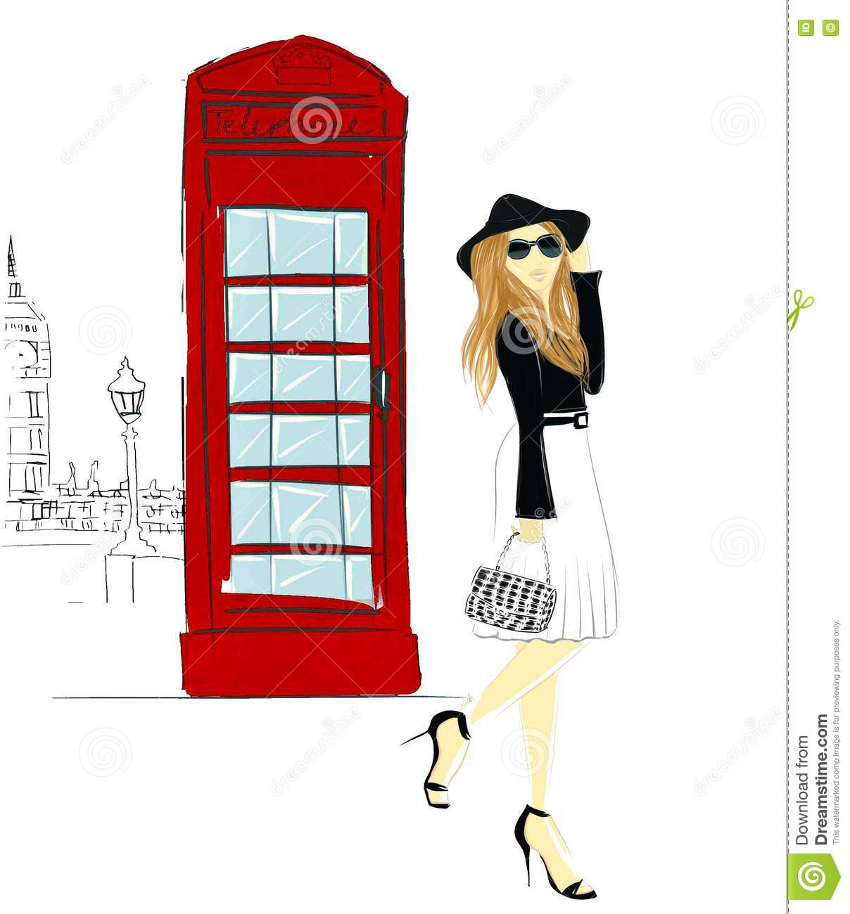 Image result for free cartoon image of a lady in london