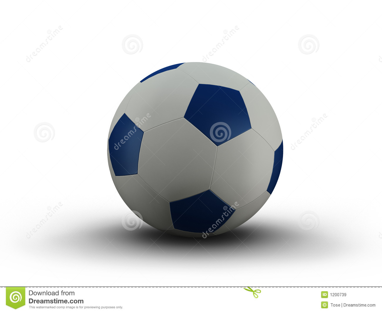 Illustration of a blue and white soccerball
