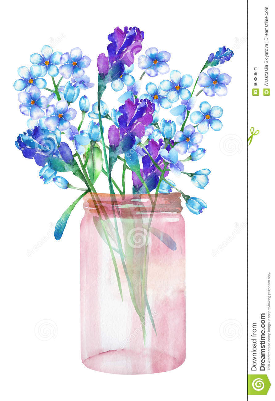 An illustration of a bouquet of the wildflowers forget me not download an illustration of a bouquet of the wildflowers forget me not izmirmasajfo