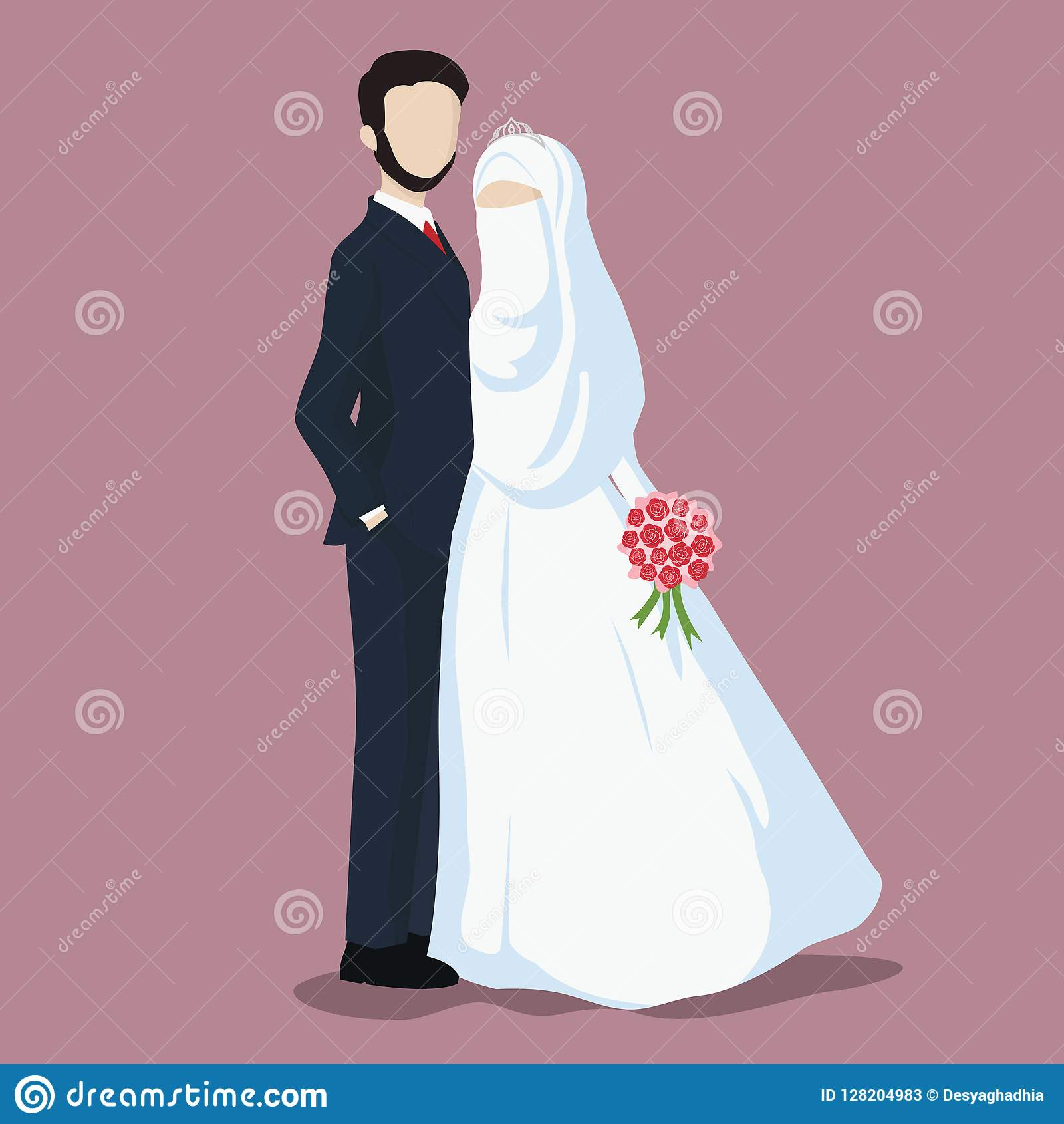 e6acf90bf9 Illustration Of Bride And Groom