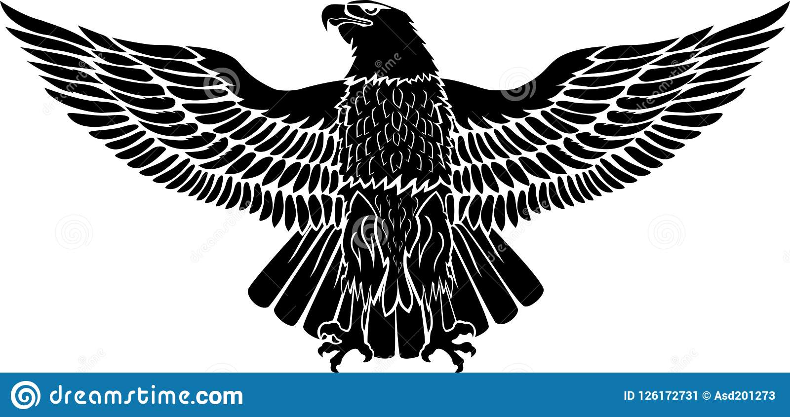Eagle for use as a sticker or tattoo